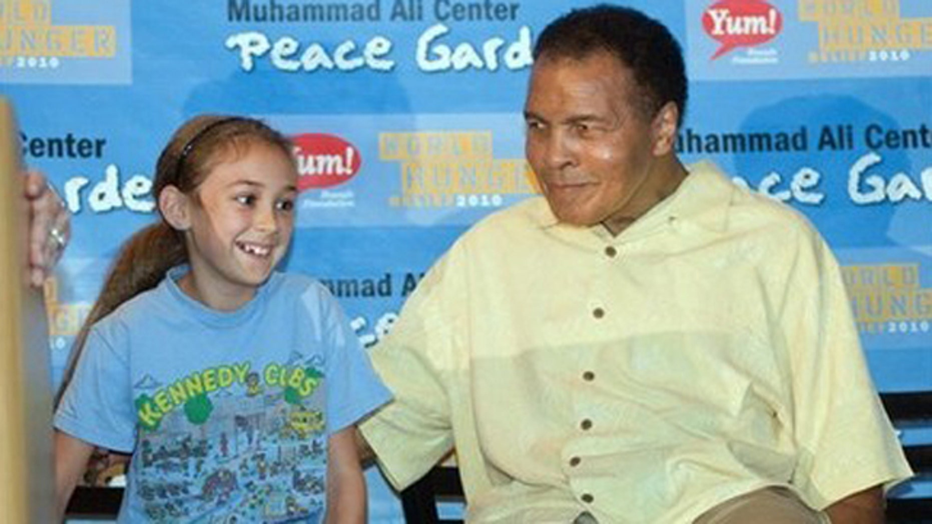 Sept. 21, 2010: United Nations International Day of Peace, The Muhammad Ali Center and Yum! Brands Foundation partner to launch global Muhammad Ali Center Peace Gardens today to teach children multicultural respect and nutrition through gardens.