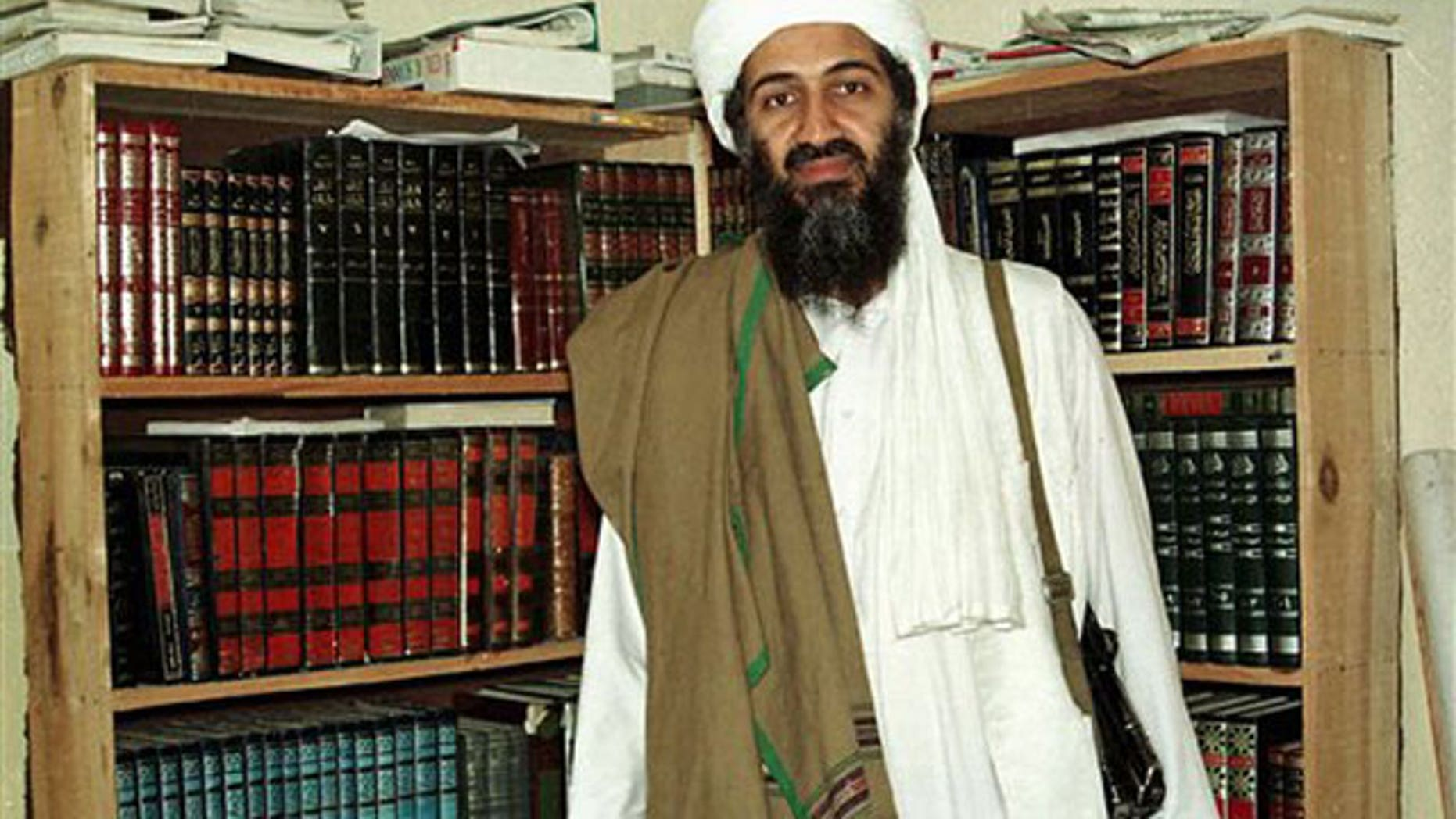 File: Al Qaeda leader Usama bin Laden in Afghanistan.