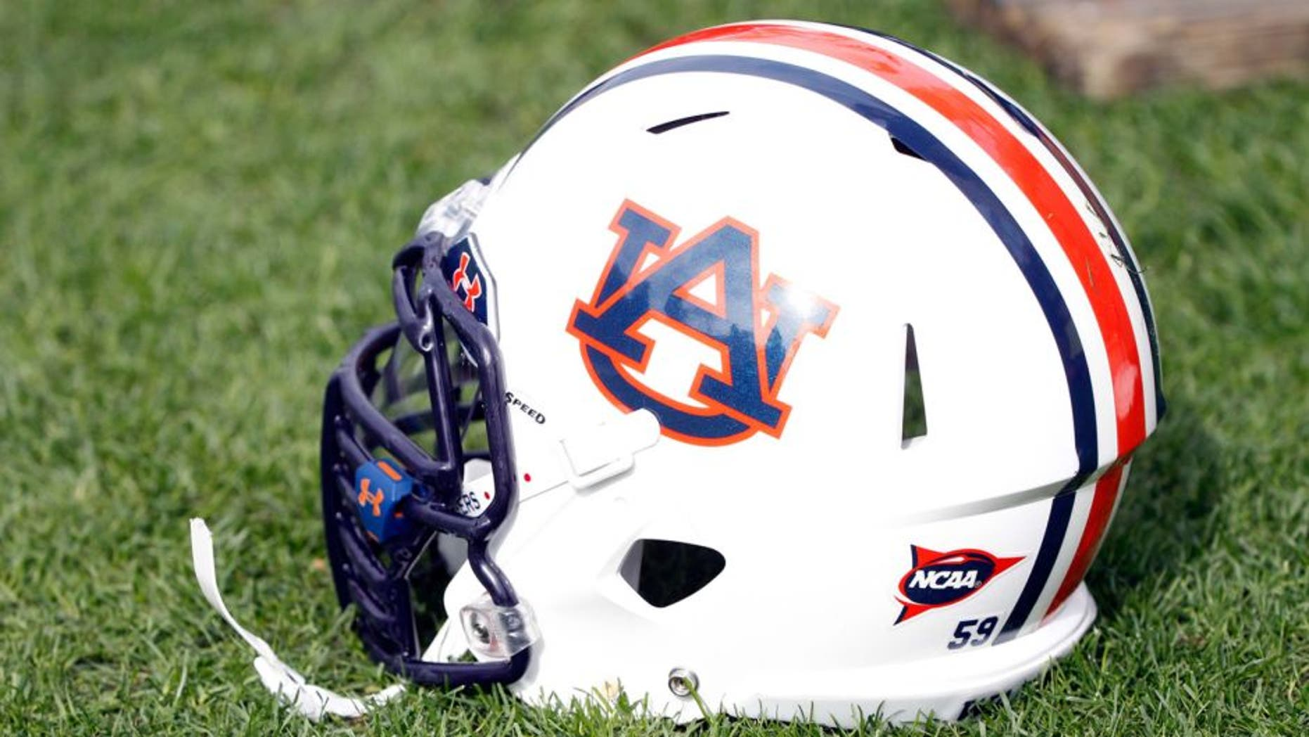 Jan 1, 2015; Tampa, FL, USA; Auburn Tigers helmet during the second half in the 2015 Outback Bowl at Raymond James Stadium. Wisconsin Badgers defeated the Auburn Tigers 34-31 in overtime. Mandatory Credit: Kim Klement-USA TODAY Sports