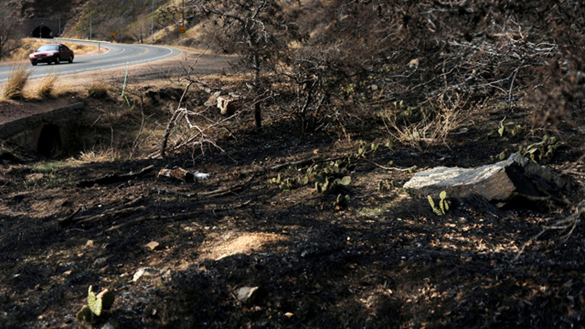 March 21: Fire crews have established a containment line on the southeast edge of the Indian Gulch fire, along Highway 6 in Clear Creek Canyon, Colo.