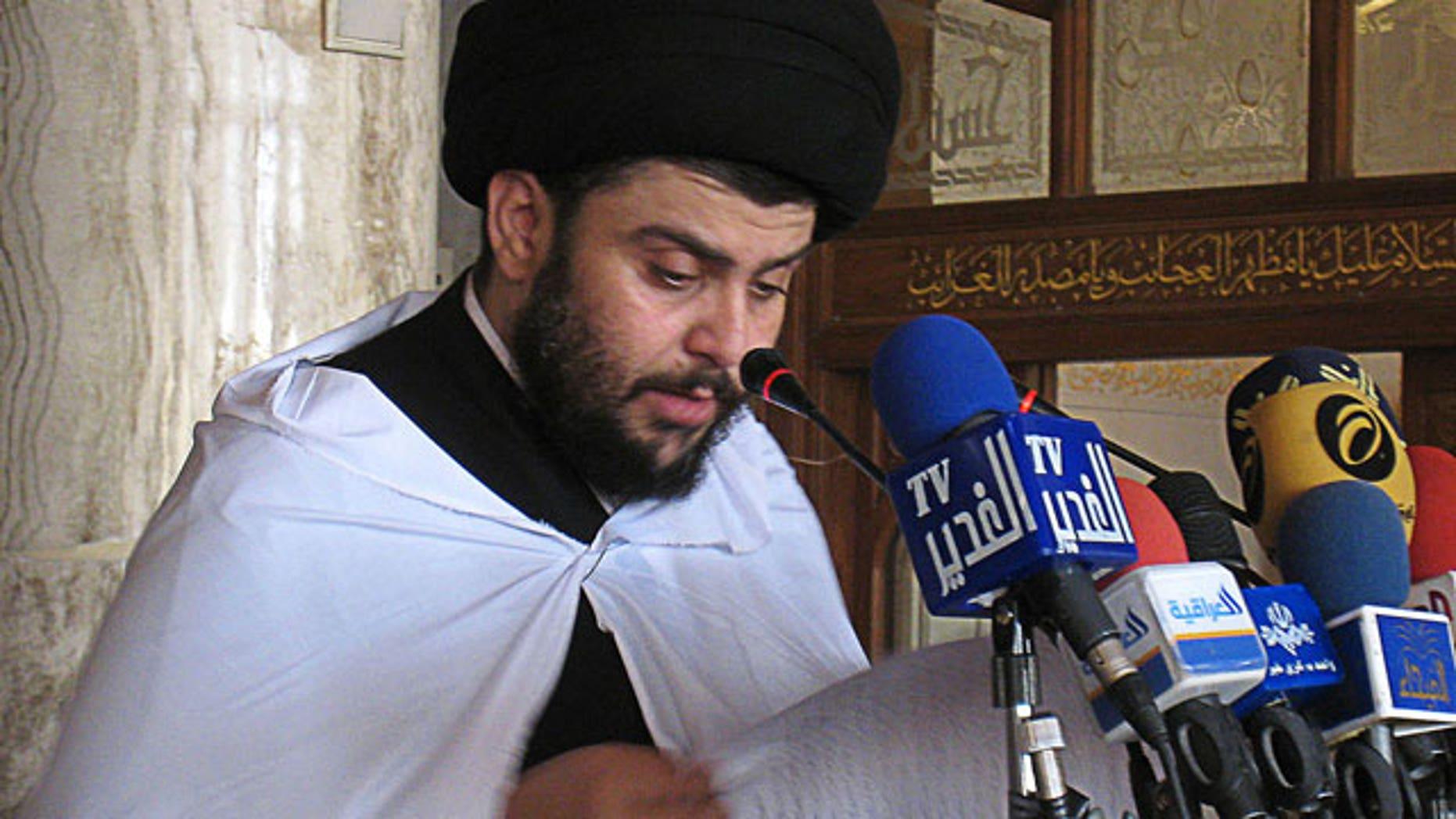 Muqtada al Sadr.