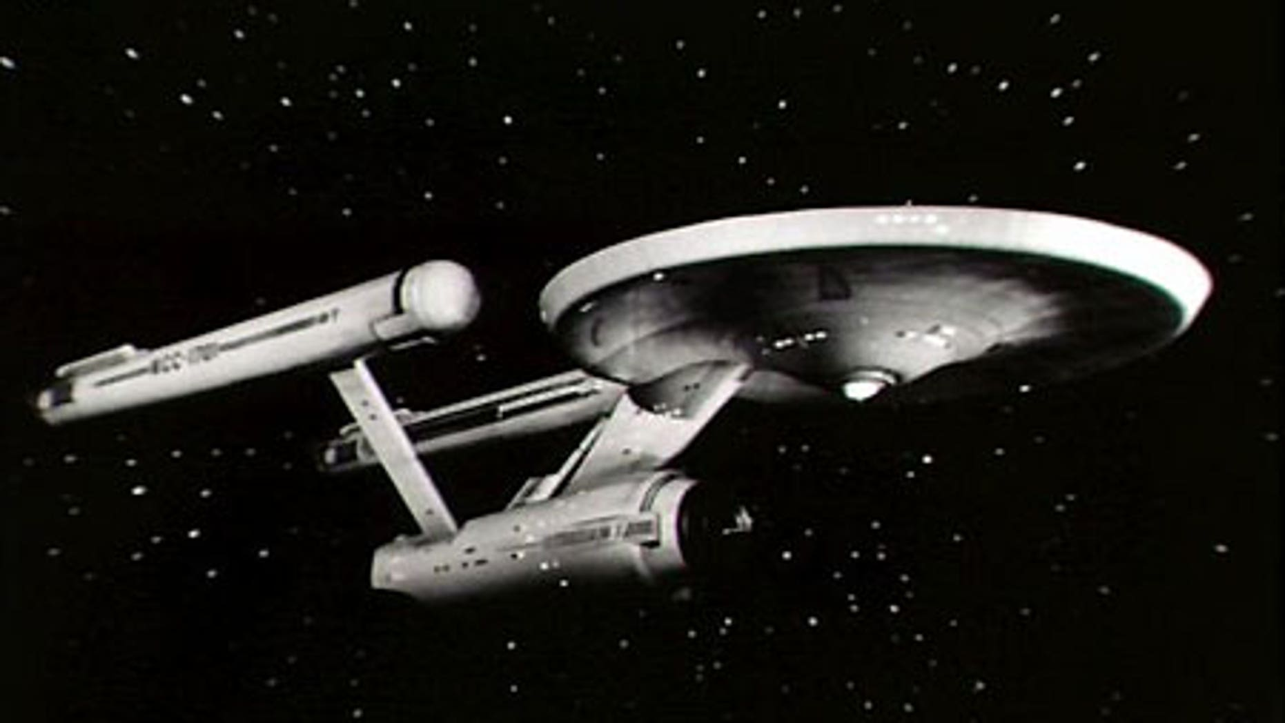 The Starship Enterprise in the original 'Star Trek' series.