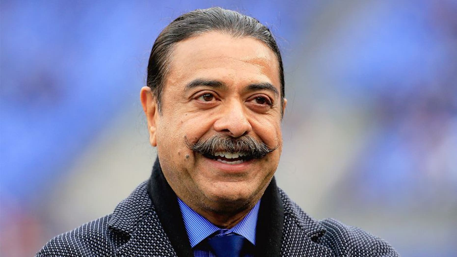 BALTIMORE, MD - DECEMBER 14: Jacksonville Jaguars owner Shahid Khan looks on before a game against the Baltimore Ravens at M&T Bank Stadium on December 14, 2014 in Baltimore, Maryland. (Photo by Rob Carr/Getty Images)