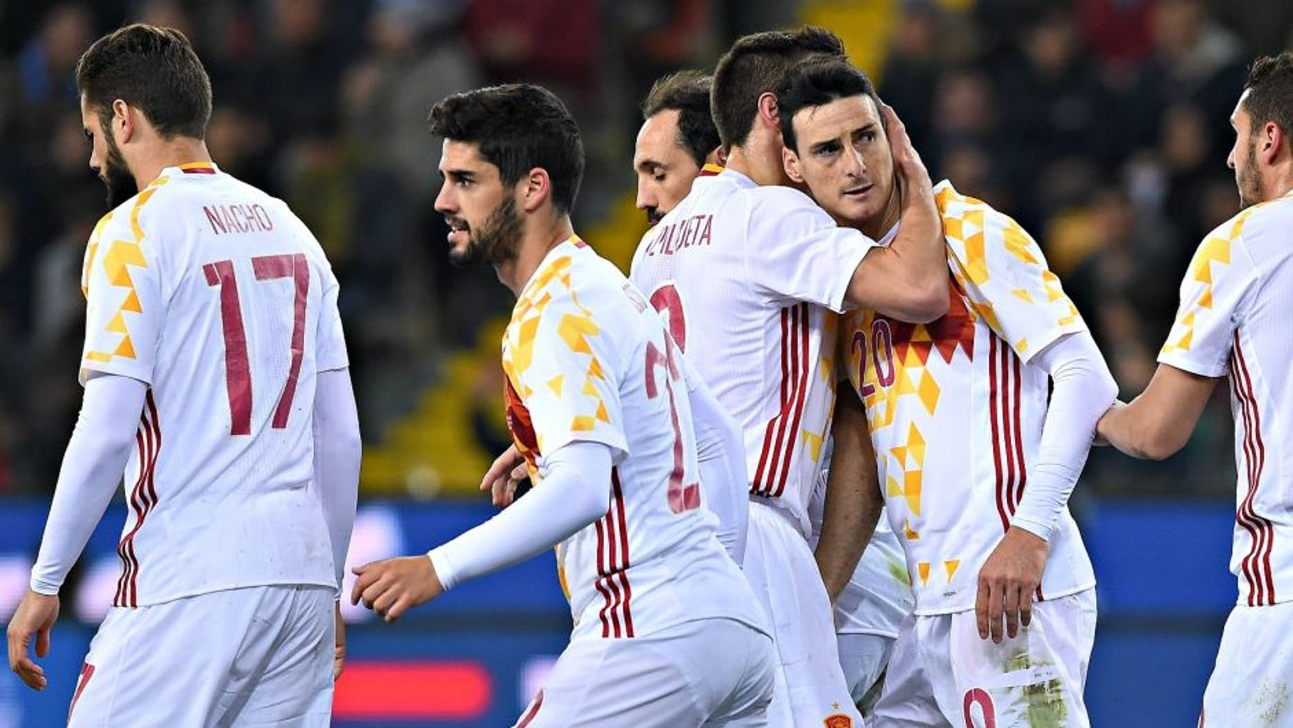 during the international friendly match between Italy and Spain at Stadio Friuli on March 24, 2016 in Udine, Italy.