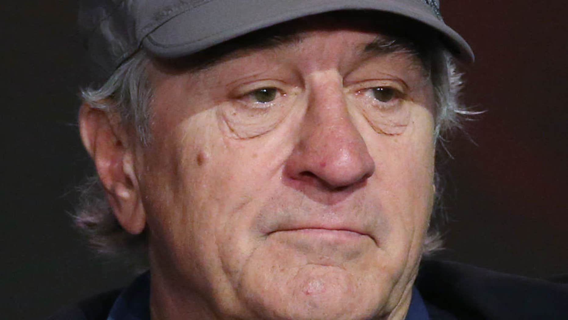 FILE - In this Tuesday, Oct. 27, 2015 file photo, Robert De Niro attends a news conference in Macau.