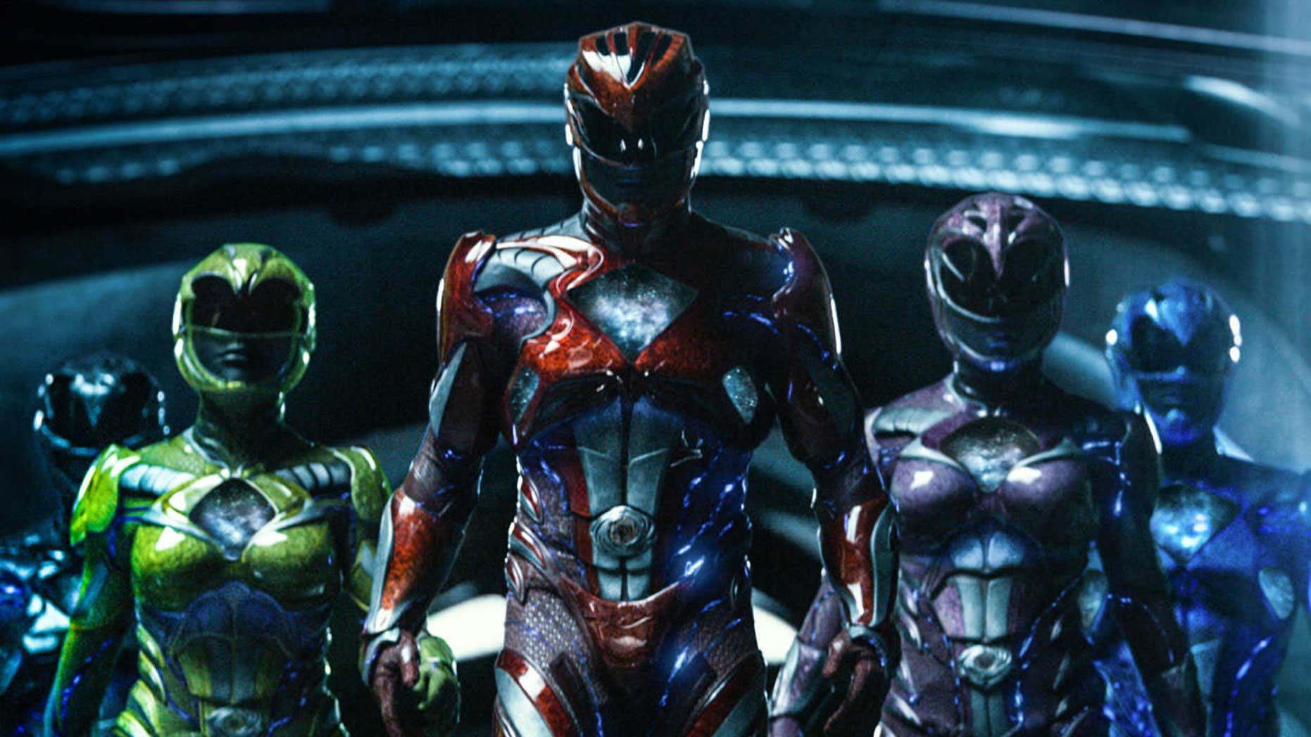 """This image released by Lionsgate shows a scene from, """"Power Rangers."""""""