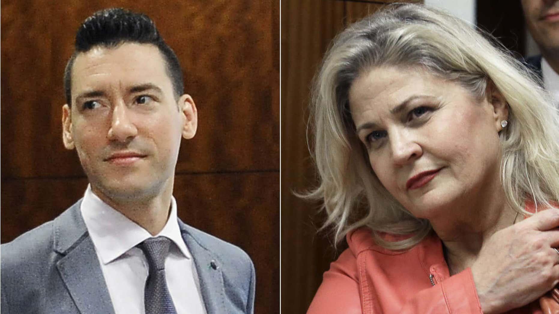 David Robert Daleiden, left, and Sandra Merritt.
