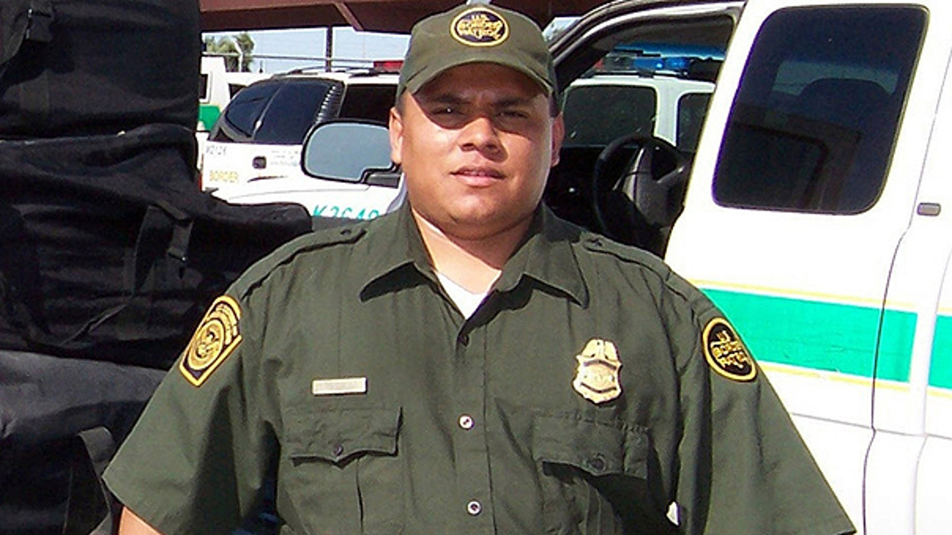 This undated file photo released by the U.S. Border Patrol on Jan. 24, 2008 shows agent Luis Aguilar. Aguilar, 32, was placing spike strips in the path of two vehicles believed to have illegally entered the United States from Mexico when one of the vehicles struck and killed him on Jan. 19, 2008.