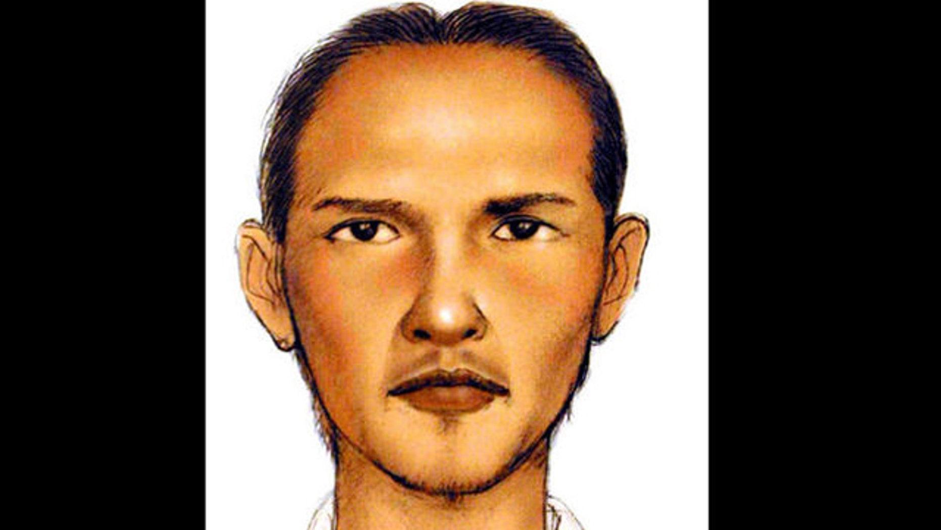 Undated sketch of Bali bombing suspect Umar Patek.