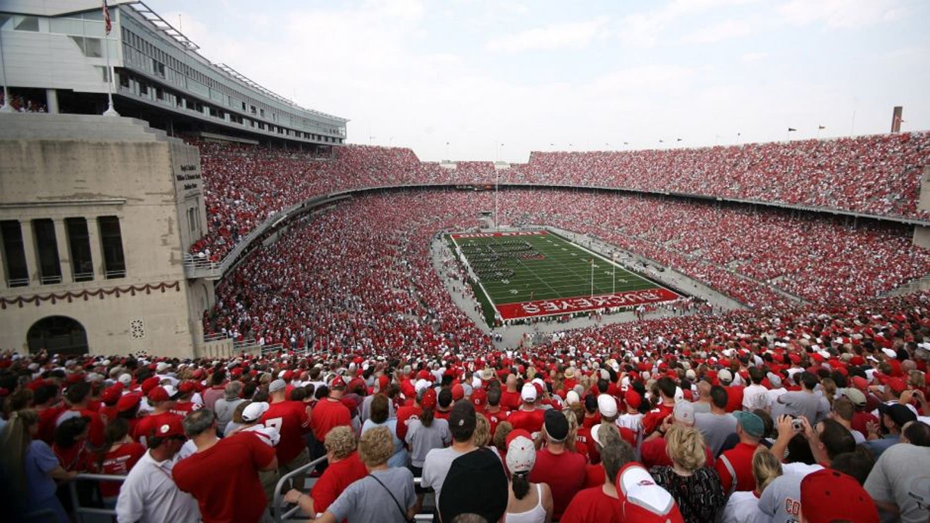 COLUMBUS, OH - SEPTEMBER 22: General view of the crowd during the game between the Northwestern Wildcats and the Ohio State Buckeyes on September 22, 2007 at the Horseshoe in Columbus, Ohio. (Photo by Collegiate Images/Getty Images)