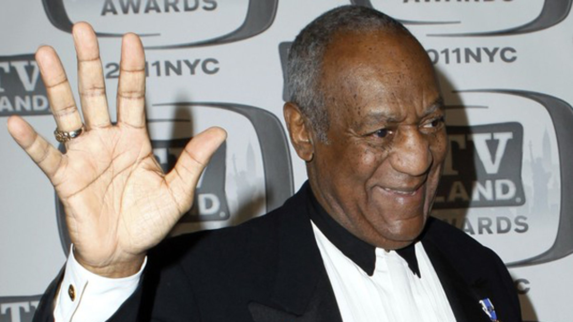 """April 10, 2011.Actor Bill Cosby arrives at the """"TV Land Awards 2011"""" in New York City."""