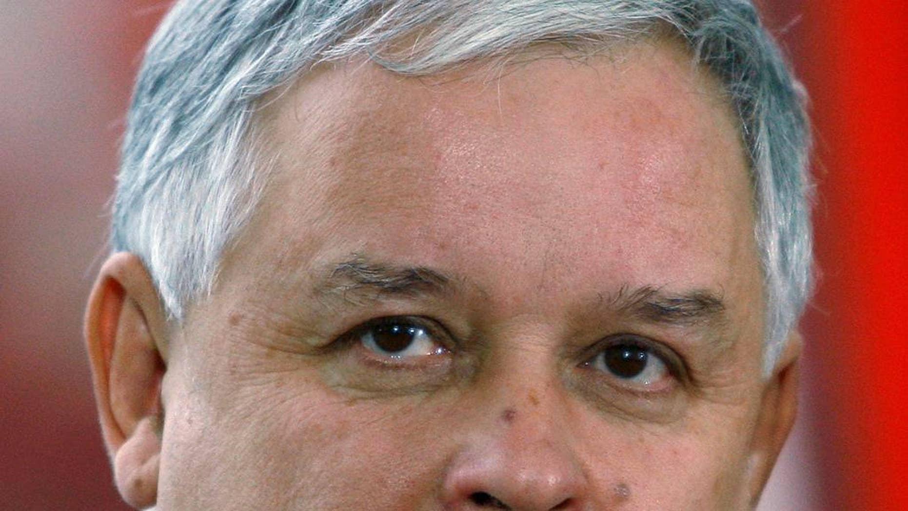 Lech Kaczynski, seen here in 2007, died in a plane crash in western Russia in 2010.