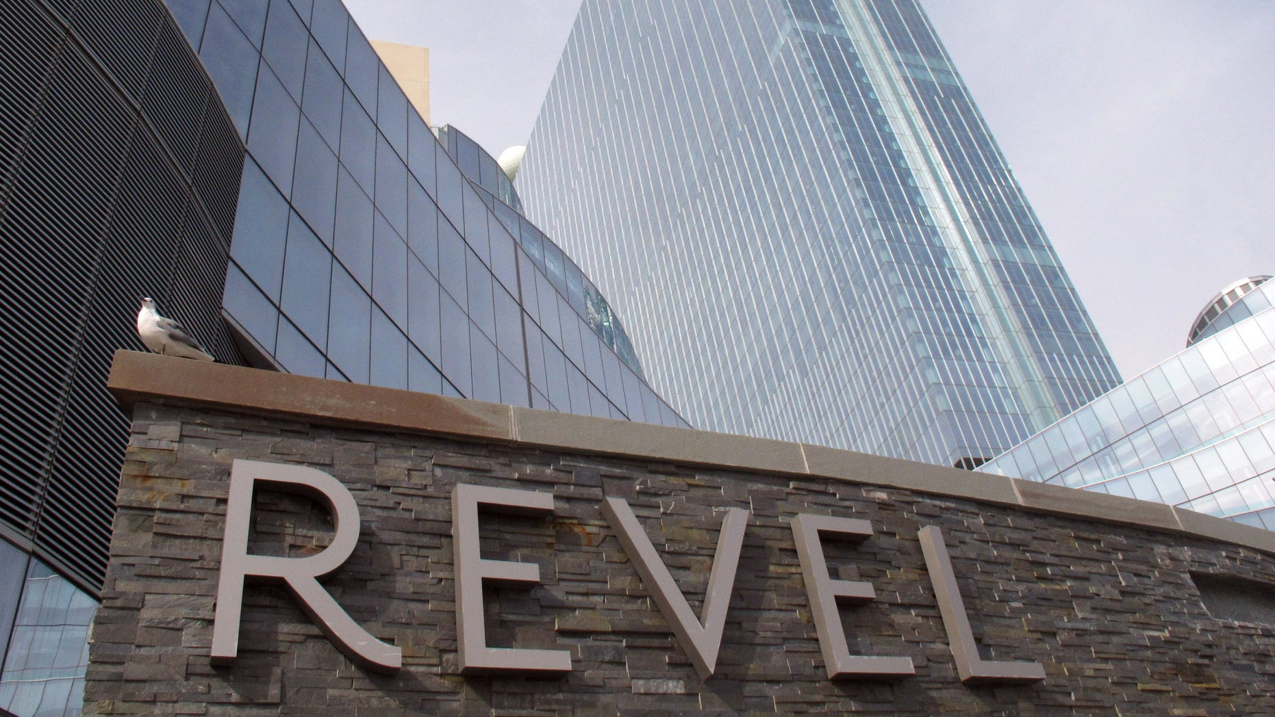 FILE - This Oct. 17, 2012 file photo shows the Revel, Atlantic City, N.J.'s newest casino. Revel, the casino many people had hoped would turn around Atlantic City's sagging fortunes, on Tuesday, Feb. 19, 2013 said that it will file for Chapter 11 bankruptcy protection in March, less than a year after it opened. (AP Photo/Wayne Parry, File)