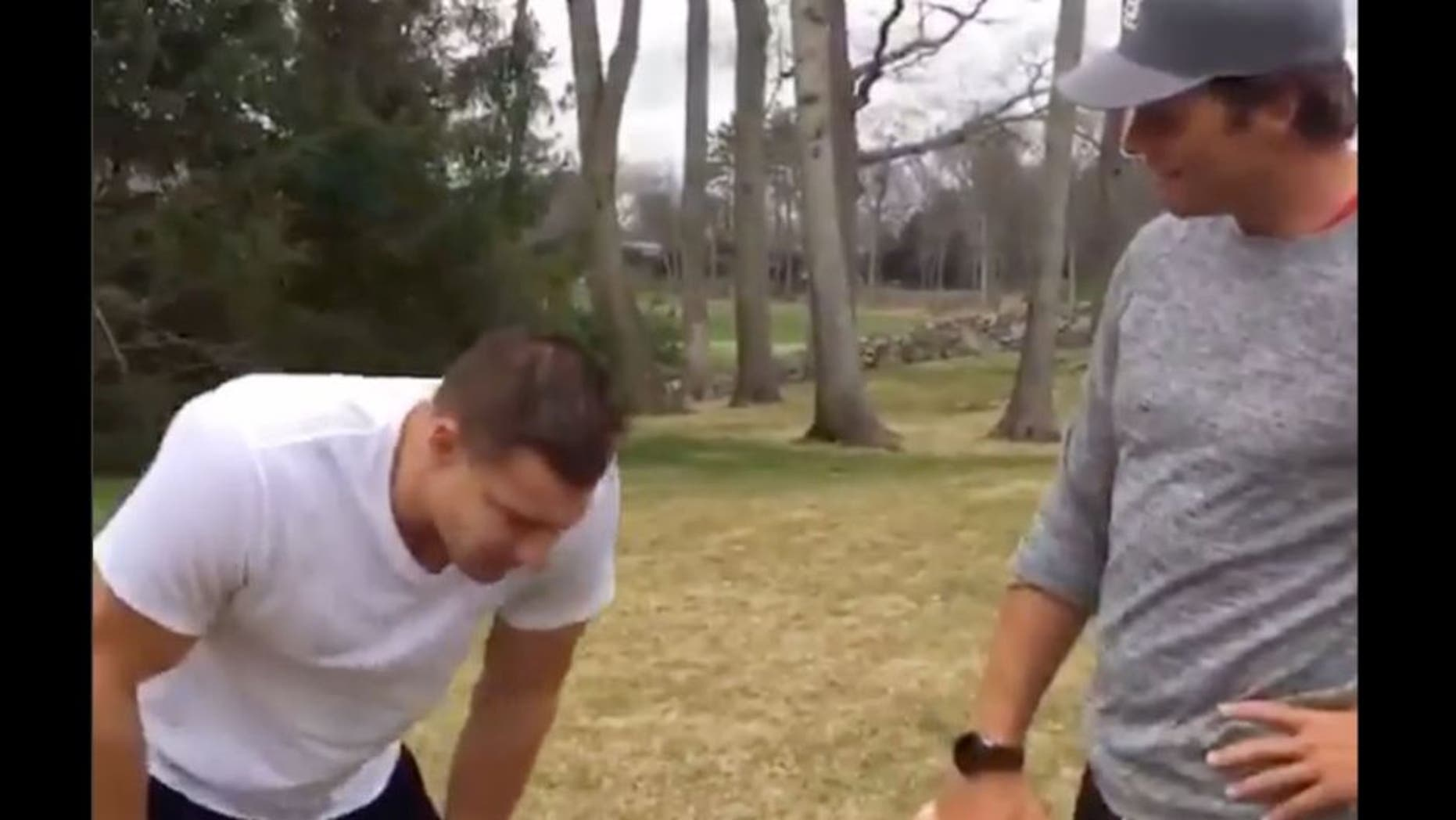 Rob Gronkowski had a little explaining to do when he finally reported to his QB for duty