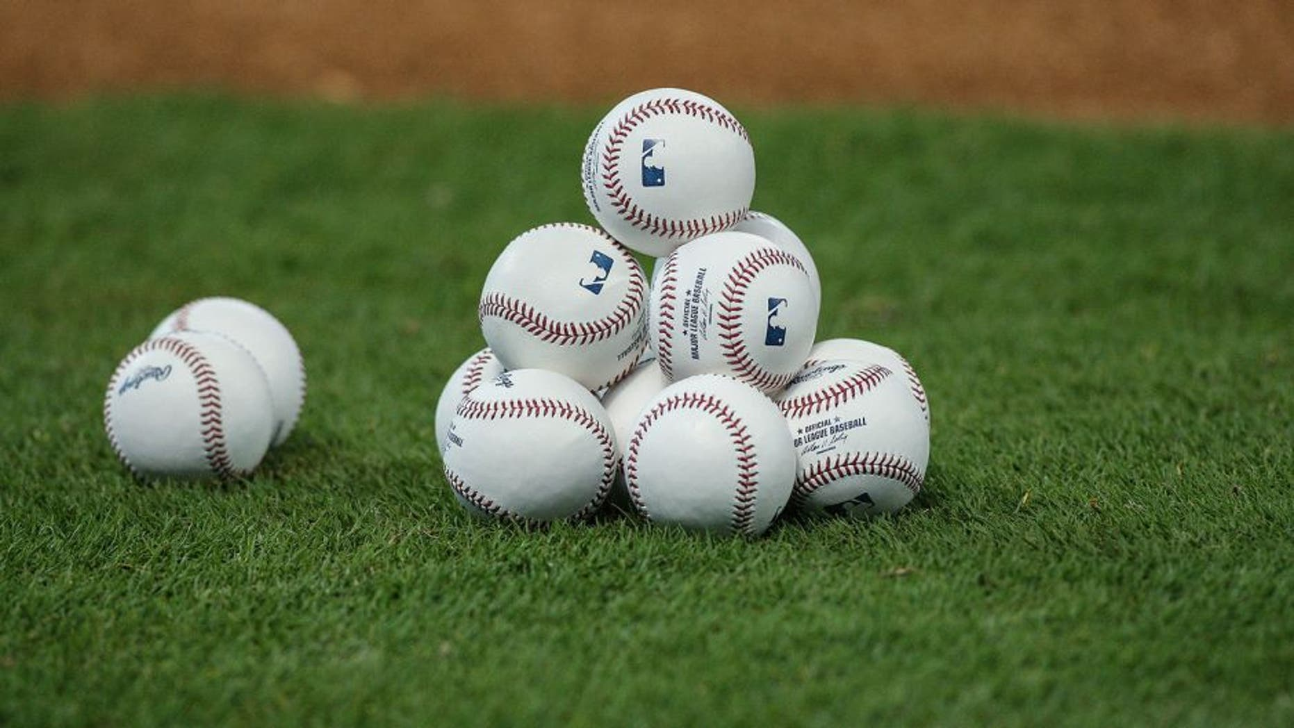 Apr 3, 2014; Houston, TX, USA; General view of baseballs before a game between the New York Yankees and the Houston Astros at Minute Maid Park. Mandatory Credit: Troy Taormina-USA TODAY Sports
