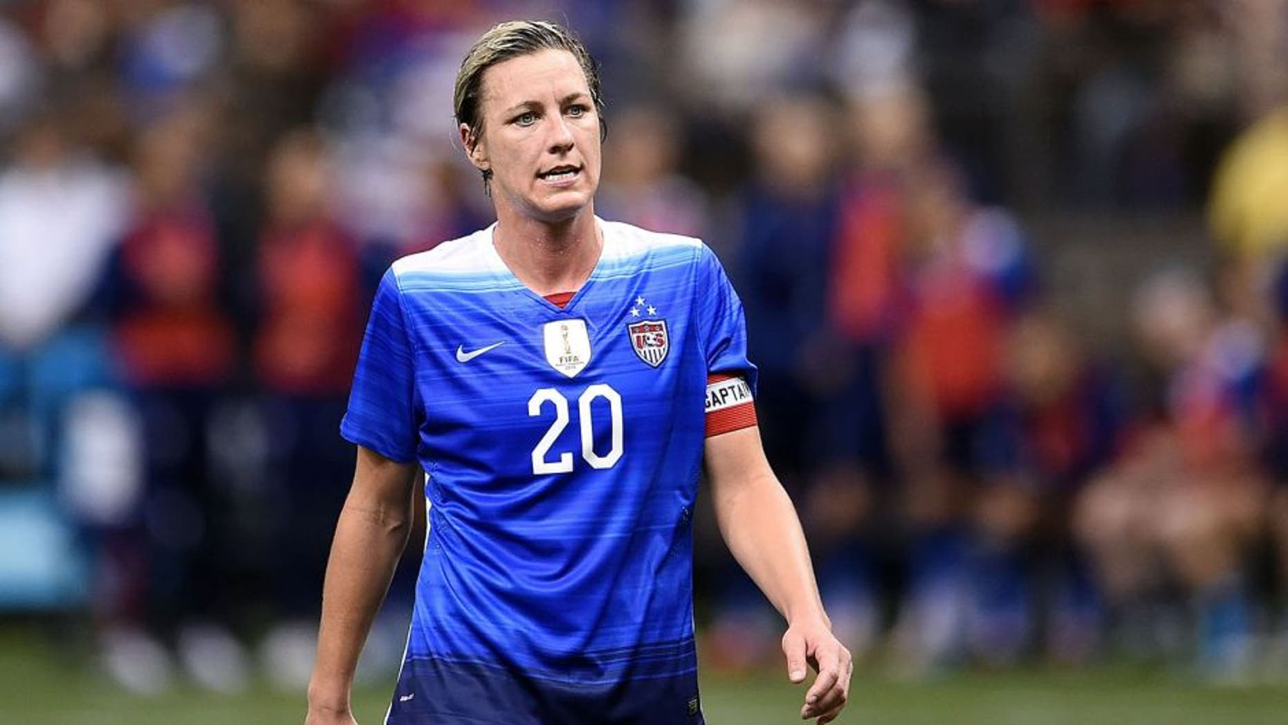 NEW ORLEANS, LA - DECEMBER 16: Abby Wambach #20 of the United States walks off the field at halftime during the women's soccer match against China at the Mercedes-Benz Superdome on December 16, 2015 in New Orleans, Louisiana. China defeated the United States 1-0. (Photo by Stacy Revere/Getty Images)