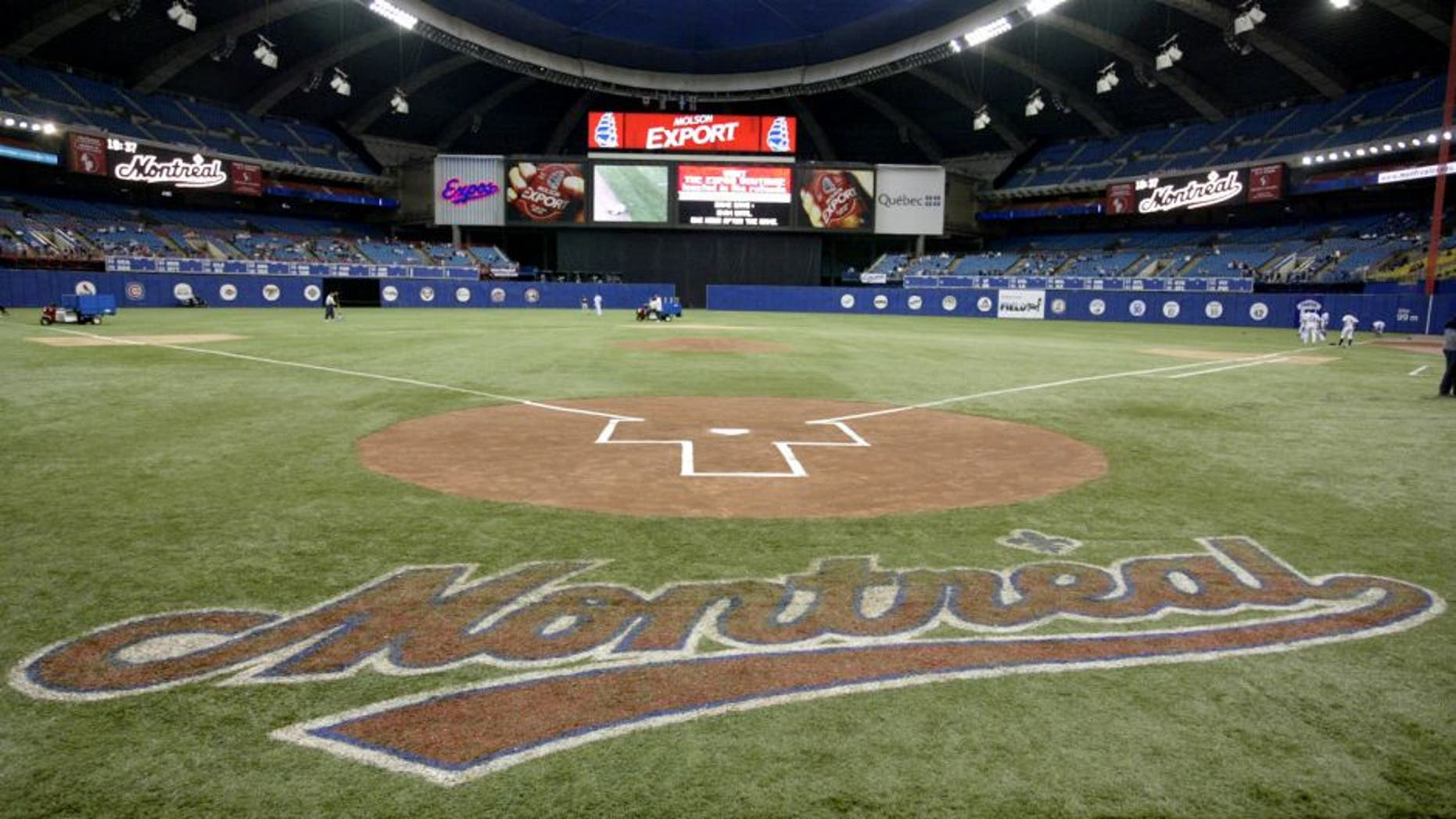 MONTREAL - SEPTEMBER 29: Olympic Stadium before the final Expos home game ever on September 29, 2004 in Montreal, Quebec, Canada. The Florida Marlins defeated the Expos 9-1. (Photo by David Boily/MLB Photos via Getty Images)