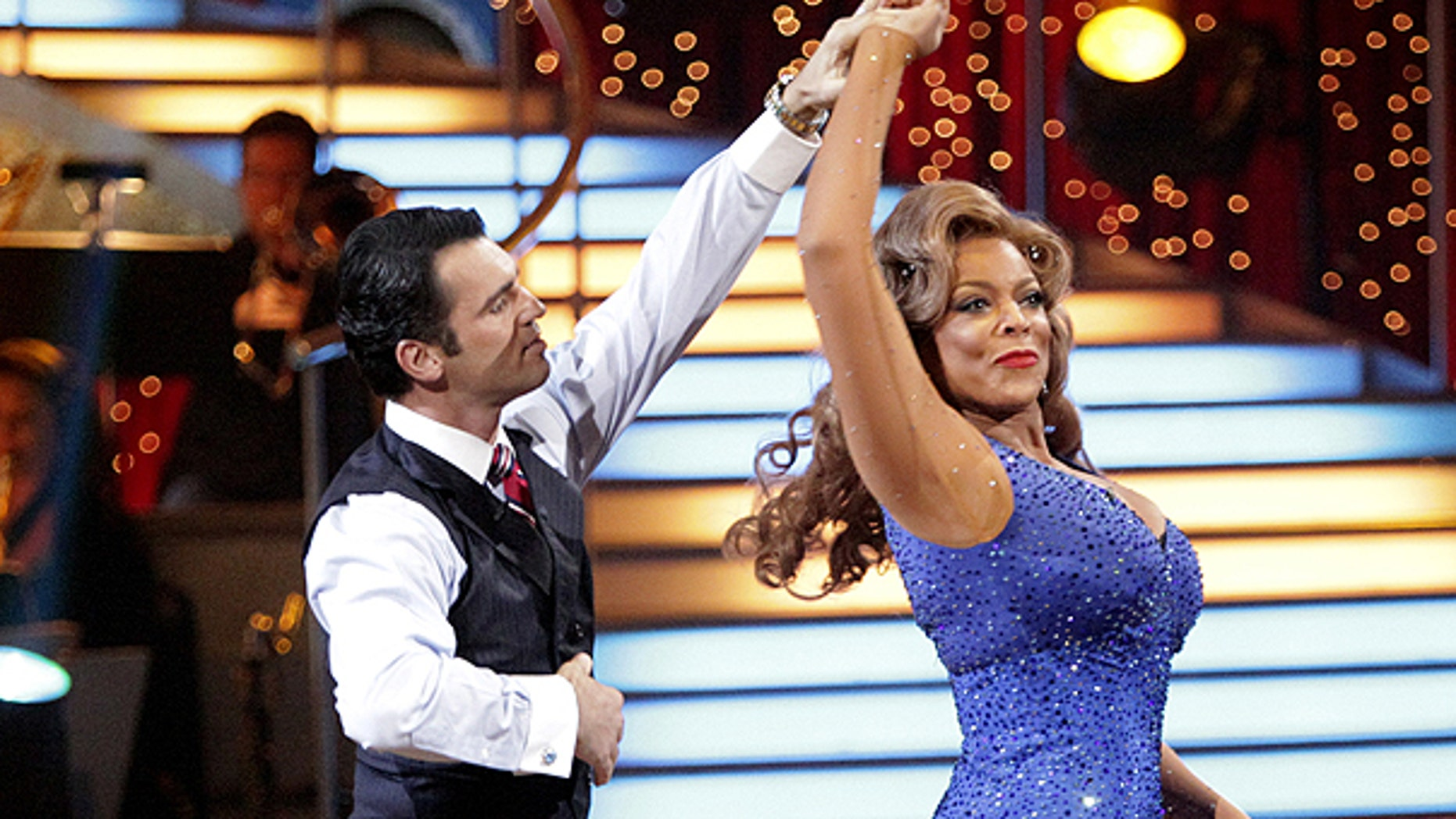 April 4: In this publicity image released by ABC, TV personality Wendy Williams, right, and her partner Tony Dovolani perform on the celebrity dance competition series, 'Dancing With the Stars' in Los Angeles.