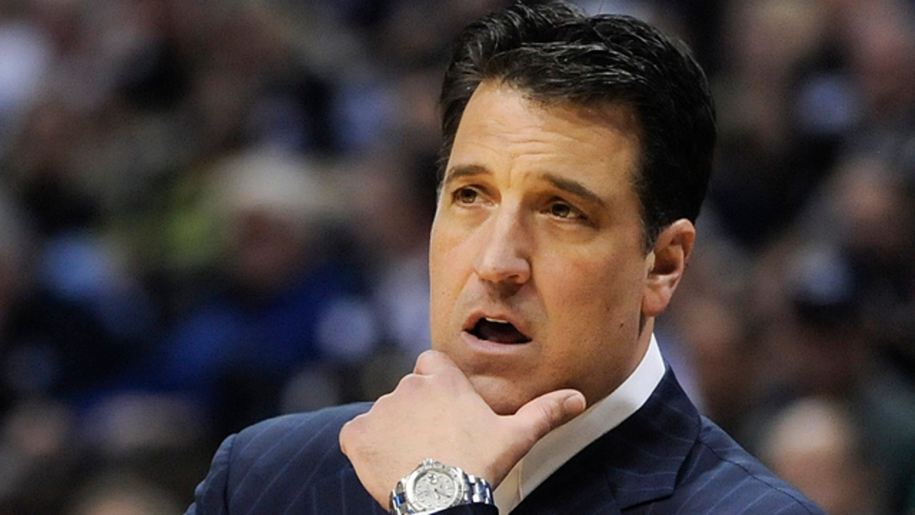 March 17: St. John's coach Steve Lavin is shown during the first half against Gonzaga in a a Southeast regional second-round NCAA tournament college basketball game in Denver.