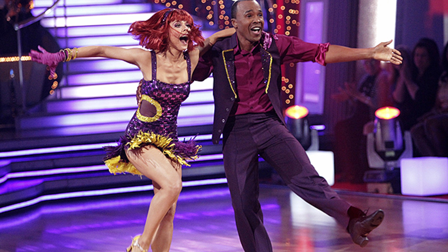 March 28: In this publicity image released by ABC, boxing great Sugar Ray Leonard, right, and his partner Anna Trebunskaya perform on the celebrity dance competition series, 'Dancing With the Stars,' in Los Angeles.