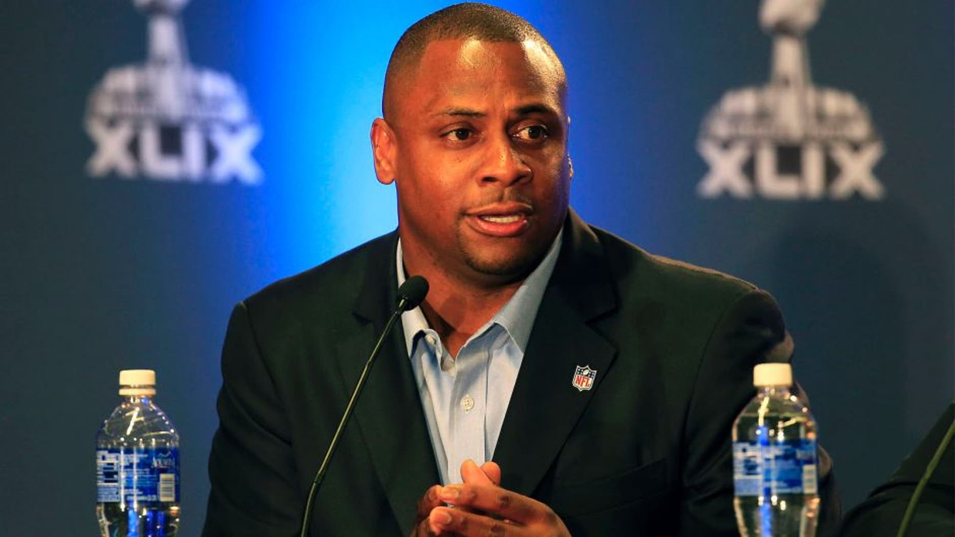 NFL Executive Vice President of Football Operations Troy Vincent attends the Super Bowl XLIX Football Operations Press Conference on January 29, 2015 in Phoenix, Arizona. (Photo by Rob Carr/Getty Images)