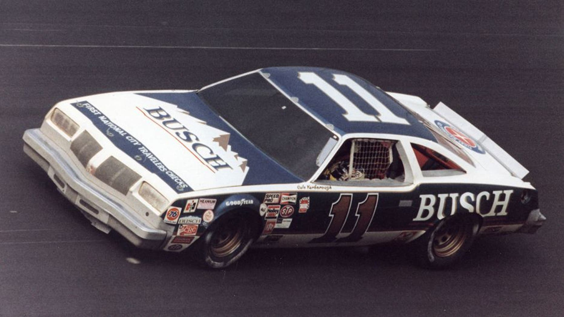 1979: Cale Yarborough at the wheel of Junior JohnsonÕs Busch Beer Oldsmobile during a NASCAR Winston Cup race. Yarborough had four wins in Õ79 and finished fourth in Winston Cup points. (Photo by ISC Images & Archives via Getty Images)