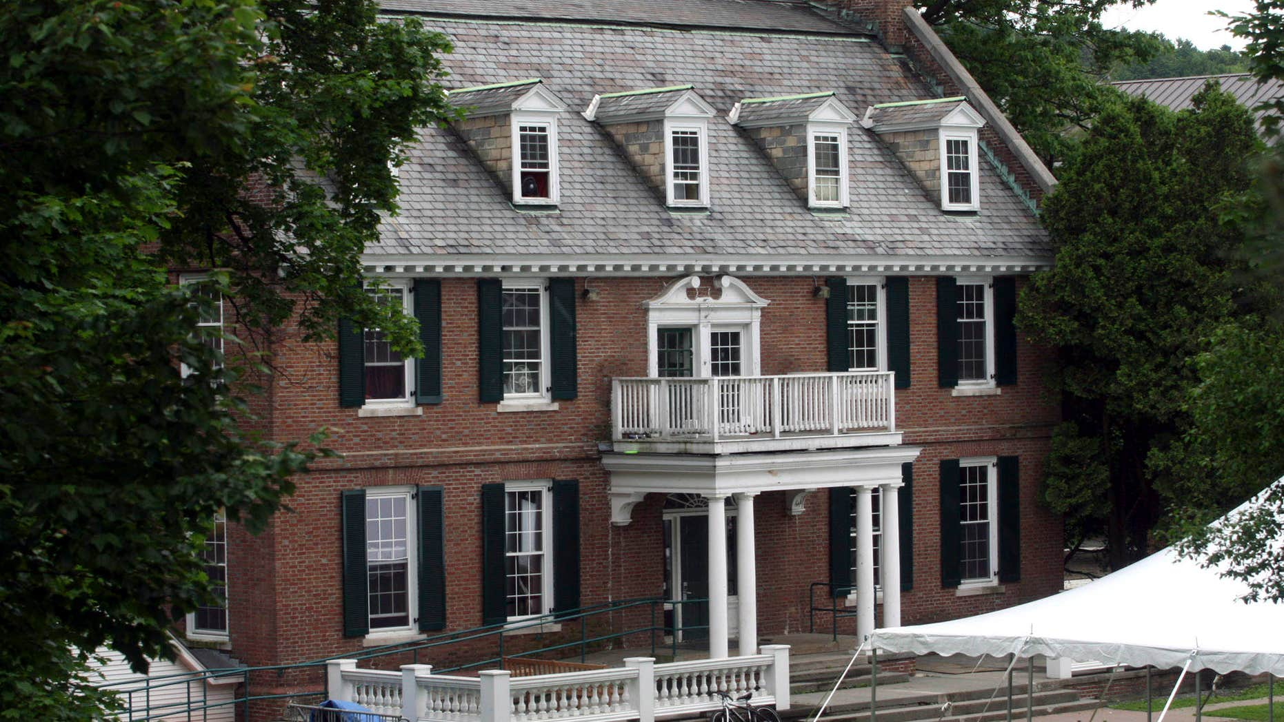 """June 9, 2009: This file photo shows the Alpha Delta fraternity at Dartmouth College in Hanover, N.H., an inspiration for the 1978 movie """"National Lampoon's Animal House."""""""