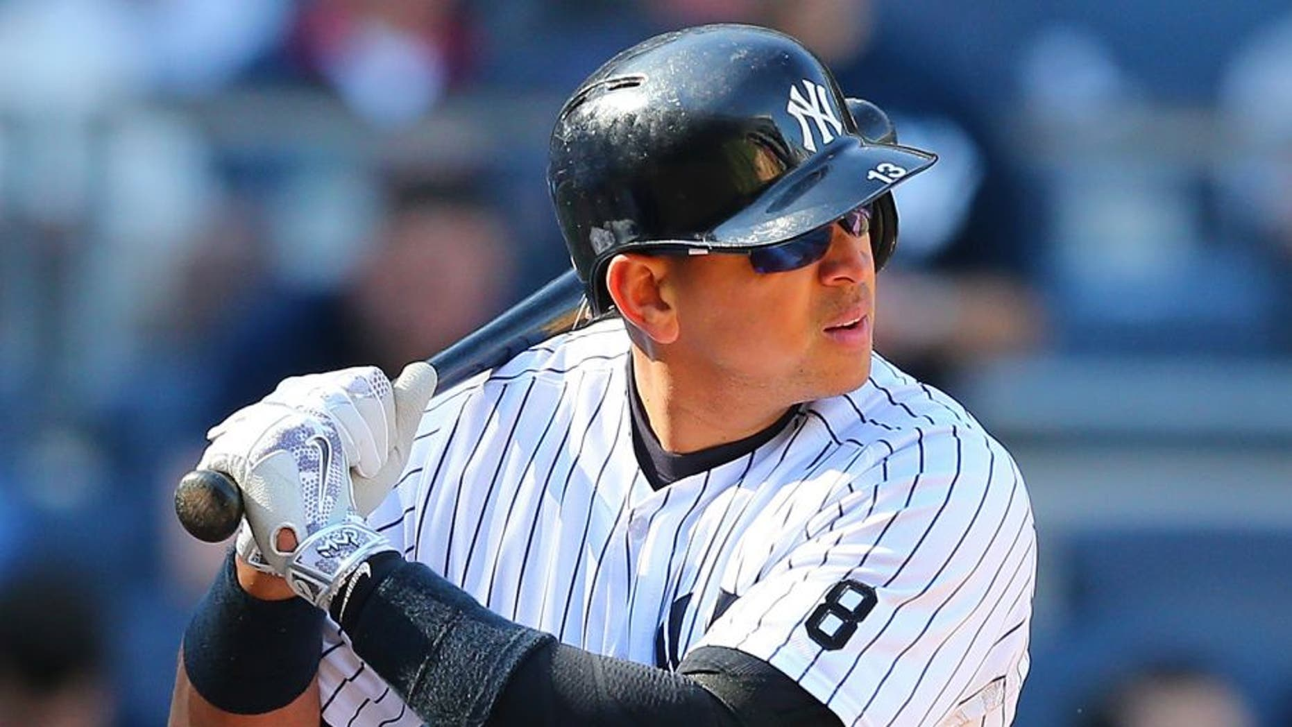 NEW YORK, NY - APRIL 16: Alex Rodriguez #13 of the New York Yankees in action against the Seattle Mariners at Yankee Stadium on April 16, 2016 in the Bronx borough of New York City. Seattle Mariners defeated the New York Yankees 3-2. (Photo by Mike Stobe/Getty Images)