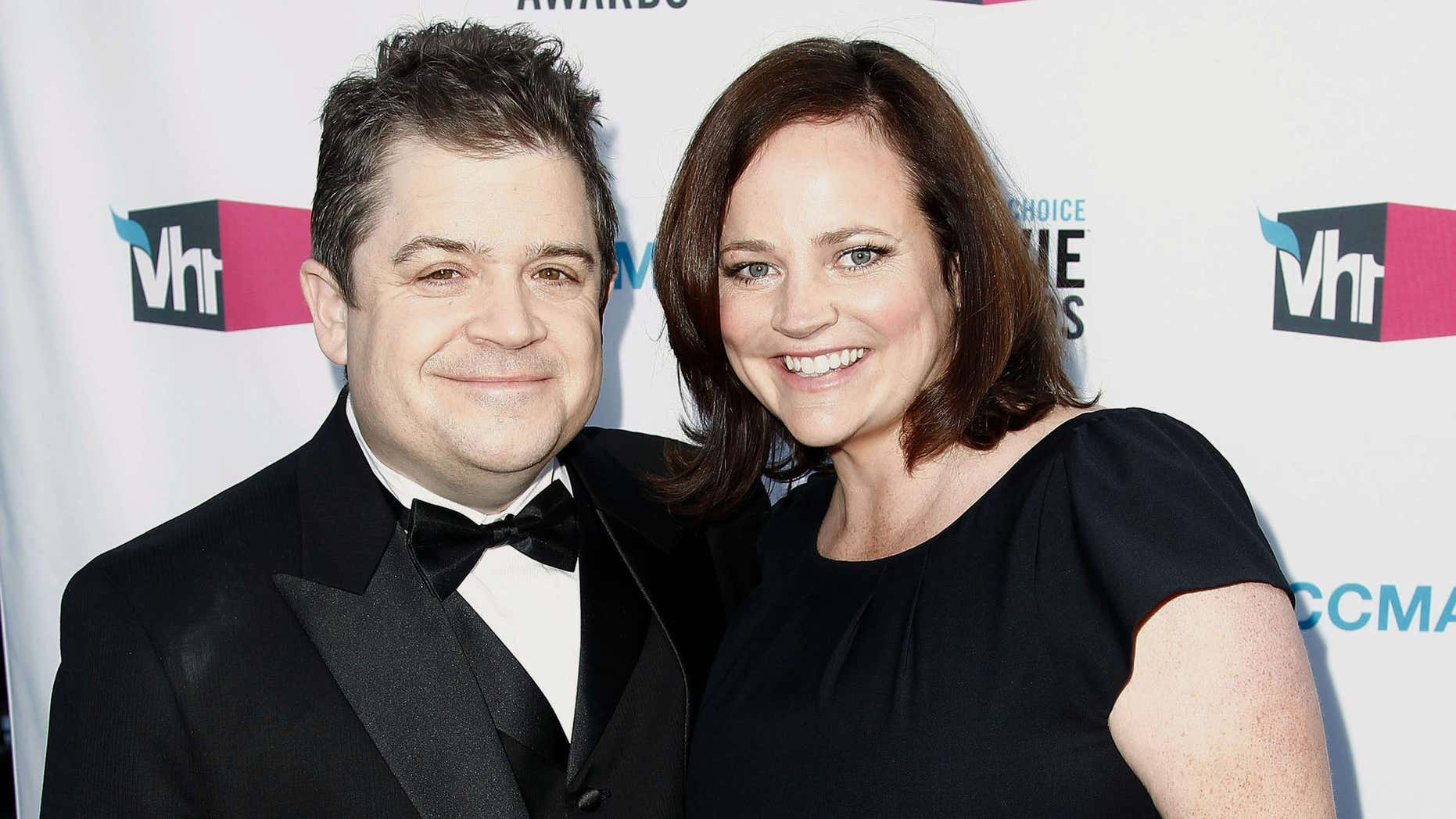 Jan. 12, 2012: Patton Oswalt, left, and his wife Michelle Eileen McNamara arrive at the 17th Annual Critics' Choice Movie Awards in Los Angeles.