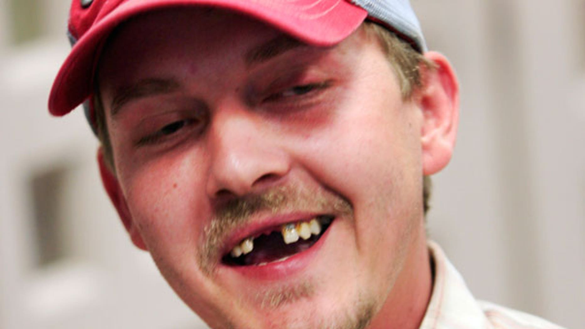 April 22: Lottery winner Christopher Shaw, 29, smiles while talking with reporters following a ceremony at the Missouri Lottery offices in Jefferson City.