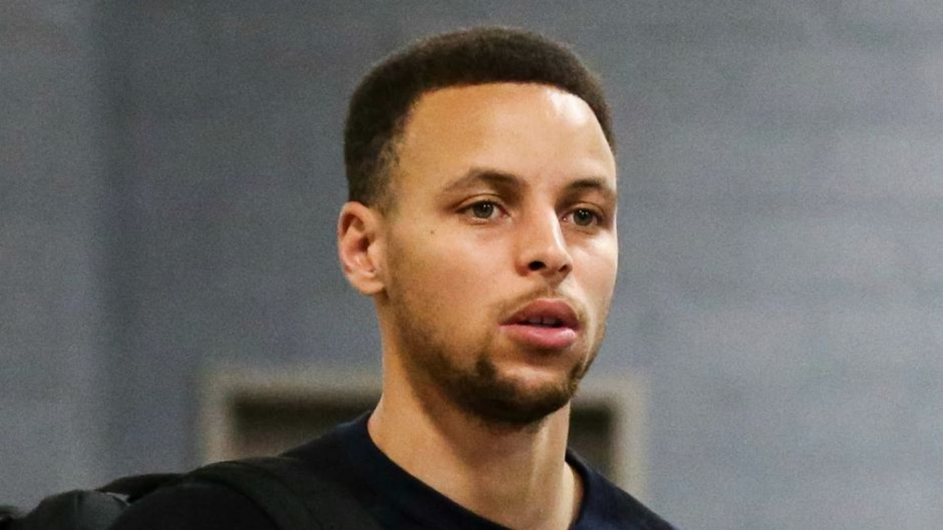 Apr 21, 2016; Houston, TX, USA; Golden State Warriors guard Stephen Curry (30) arrives before game three of the first round of the NBA Playoffs against the Houston Rockets at Toyota Center. Mandatory Credit: Troy Taormina-USA TODAY Sports