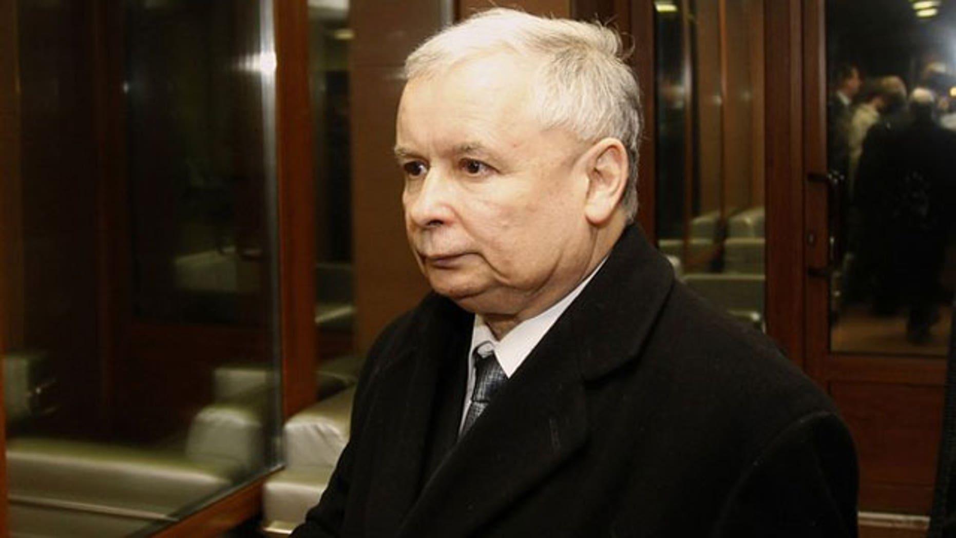 Jaroslaw Kaczynski, twin brother of Polish President Lech Kaczynski, is seen at Smolensk airport April 10, 2010 (Reuters).