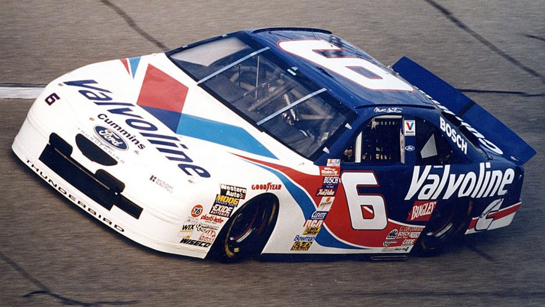 TALLADEGA, AL - MAY 10, 1997: Mark Martin won the 1997 Winston 500 at Talladega in record time due to a caution-free race. It was Martin's first victory since 1995. (Photo by ISC Archives via Getty Images)