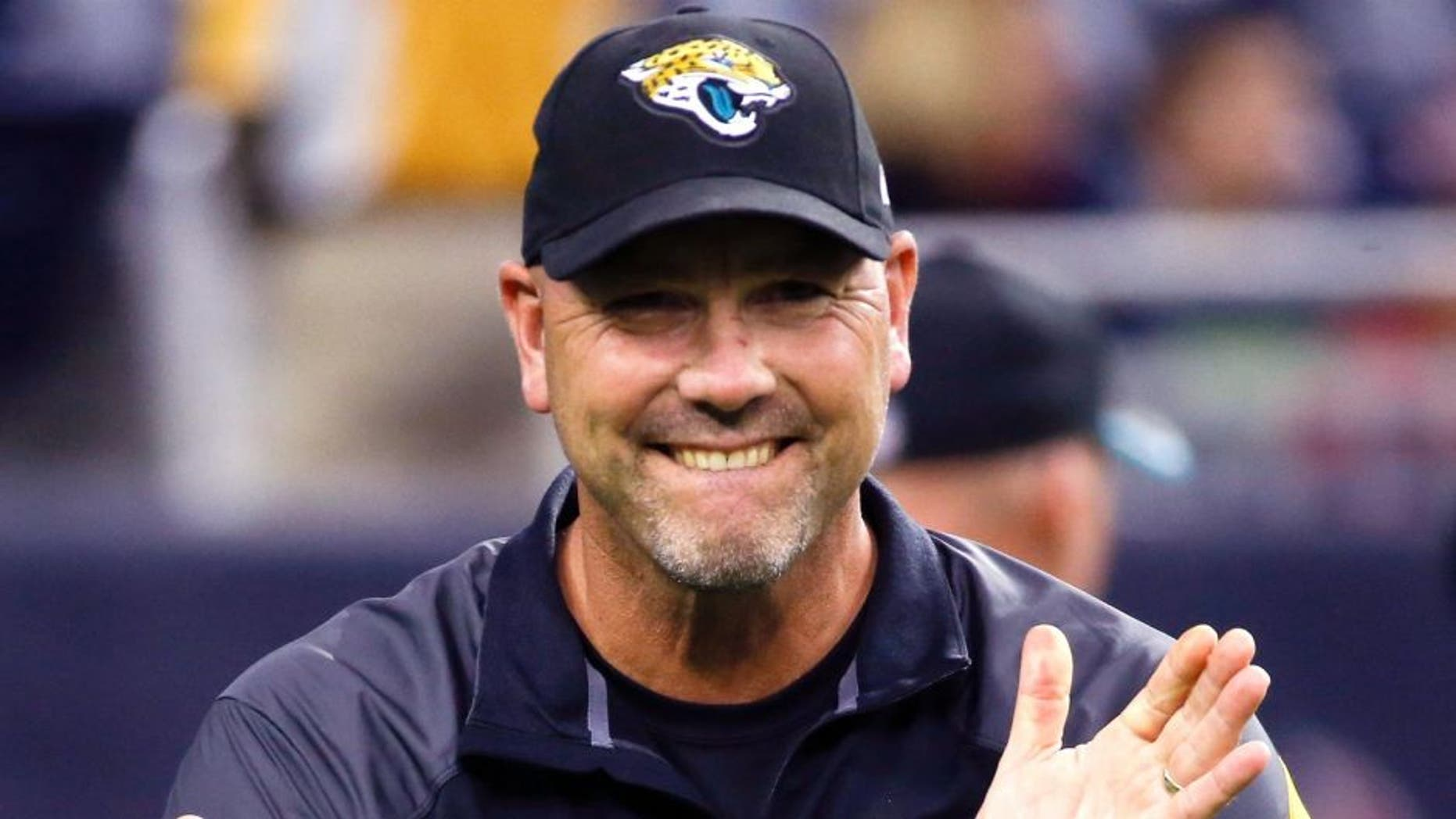 Dec 28, 2014; Houston, TX, USA; Jacksonville Jaguars head coach Gus Bradley before the game against the Houston Texans at NRG Stadium. Mandatory Credit: Kevin Jairaj-USA TODAY Sports