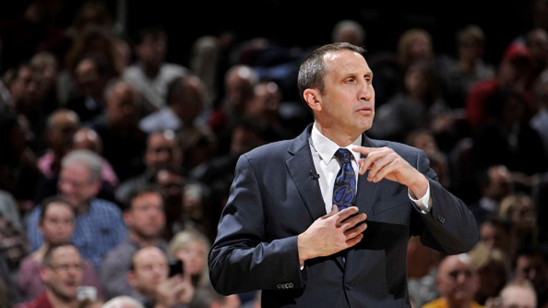 CLEVELAND, OH - JANUARY 21: David Blatt of the Cleveland Cavaliers coaches against the Los Angeles Clippers on January 21, 2016 at Quicken Loans Arena in Cleveland, Ohio. NOTE TO USER: User expressly acknowledges and agrees that, by downloading and/or using this Photograph, user is consenting to the terms and conditions of the Getty Images License Agreement. Mandatory Copyright Notice: Copyright 2016 NBAE (Photo by David Liam Kyle/NBAE via Getty Images)