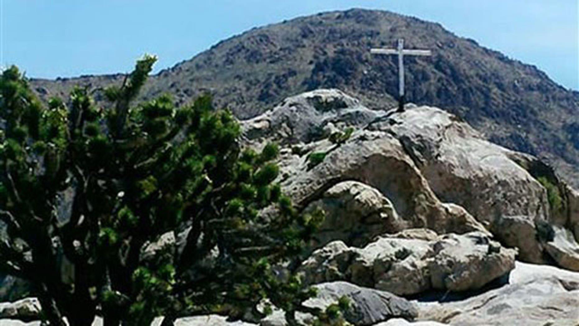 The Mojave Desert War Memorial in California