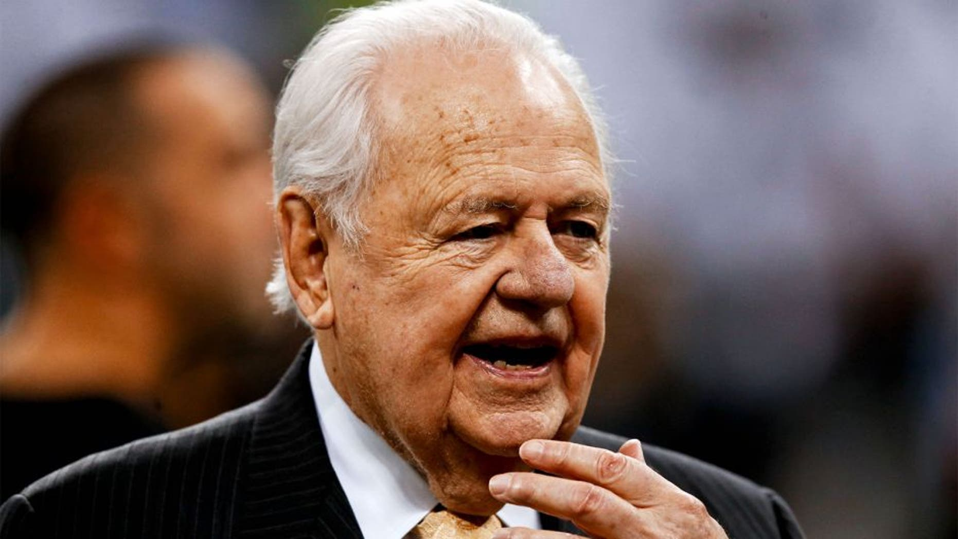 Dec 8, 2013; New Orleans, LA, USA; New Orleans Saints owner Tom Benson prior to a game against the Carolina Panthers at Mercedes-Benz Superdome. Mandatory Credit: Derick E. Hingle-USA TODAY Sports