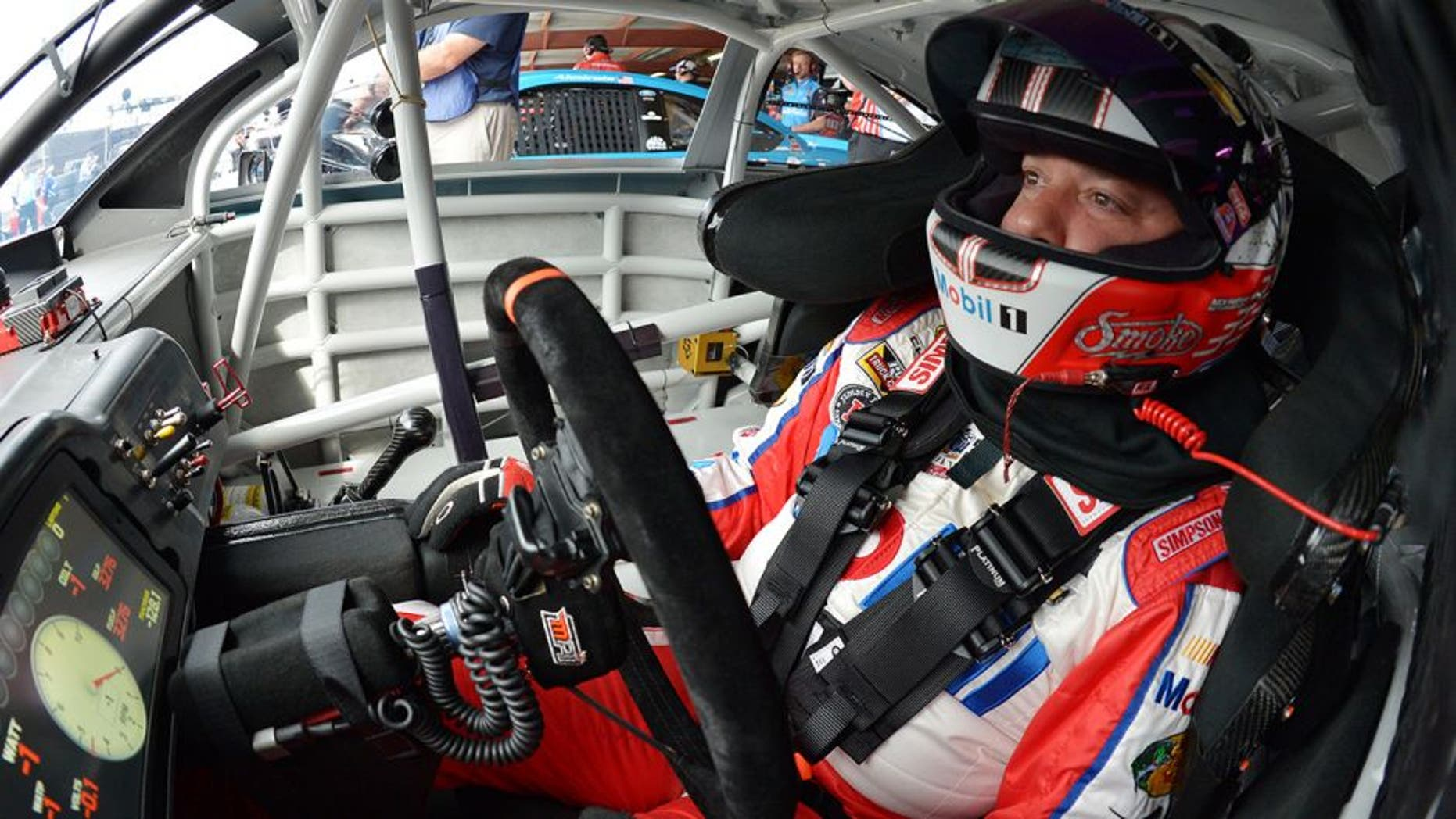 RICHMOND, VA - APRIL 23: Tony Stewart, driver of the #14 Mobil 1 Advanced Fuel Economy Chevrolet, prepares to drive during practice for the NASCAR Sprint Cup Series TOYOTA OWNERS 400 at Richmond International Raceway on April 23, 2016 in Richmond, Virginia. (Photo by Drew Hallowell/NASCAR via Getty Images)