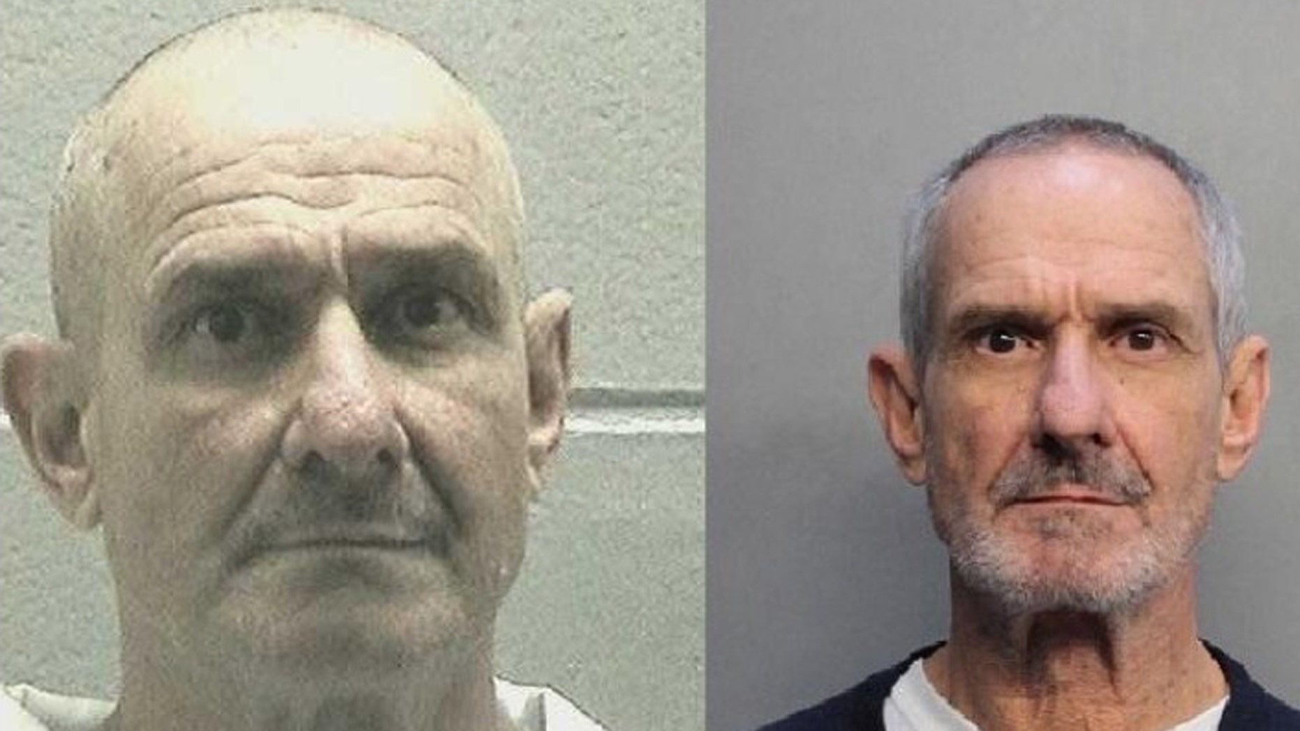 Raul Eduardo Prado (left) escaped a work detail in Augusta, Georgia on May 7. The man on the right claims he is the Prado's twin brother Jean and has been falsely arrested.