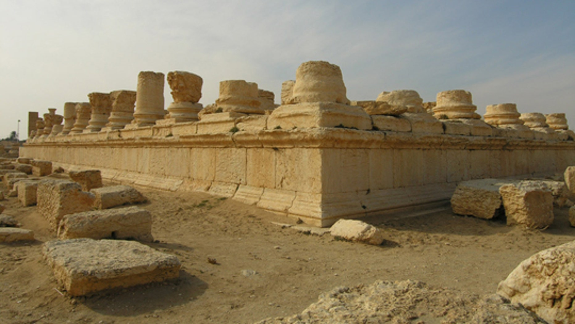 This undated photo shows part of the archaeological site at Palmyra in Syria (UNESCO)