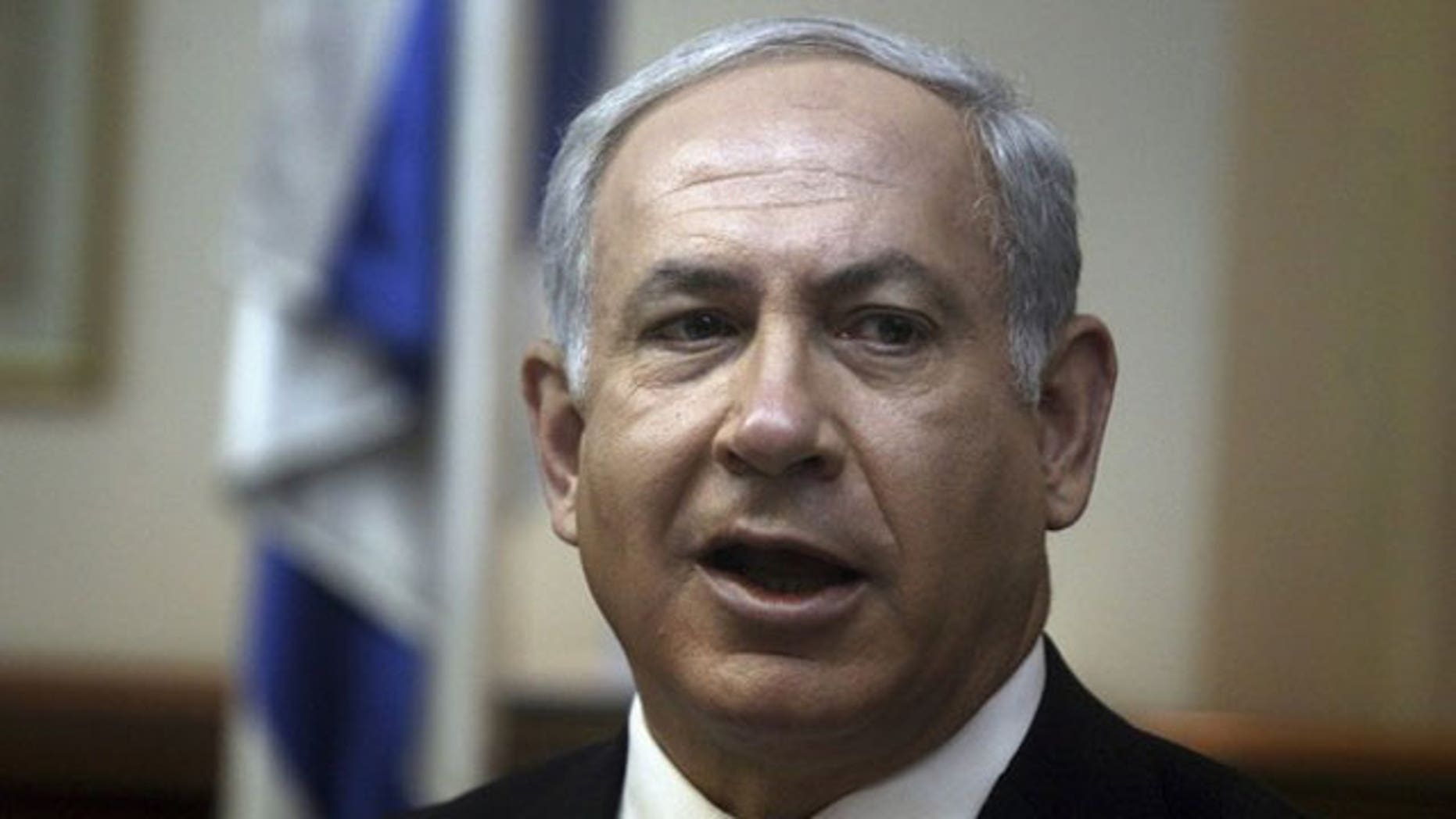 May 2: Israel's Prime Minister Benjamin Netanyahu attends the weekly cabinet meeting in his office in Jerusalem (Reuters).