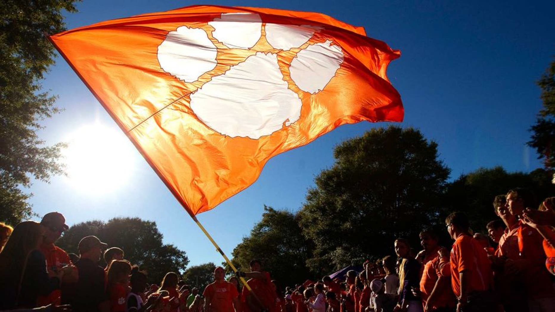 Oct 25, 2014; Clemson, SC, USA; Clemson Tigers fans during the Tiger Walk prior to the game against the Syracuse Orange at Clemson Memorial Stadium. Mandatory Credit: Joshua S. Kelly-USA TODAY Sports
