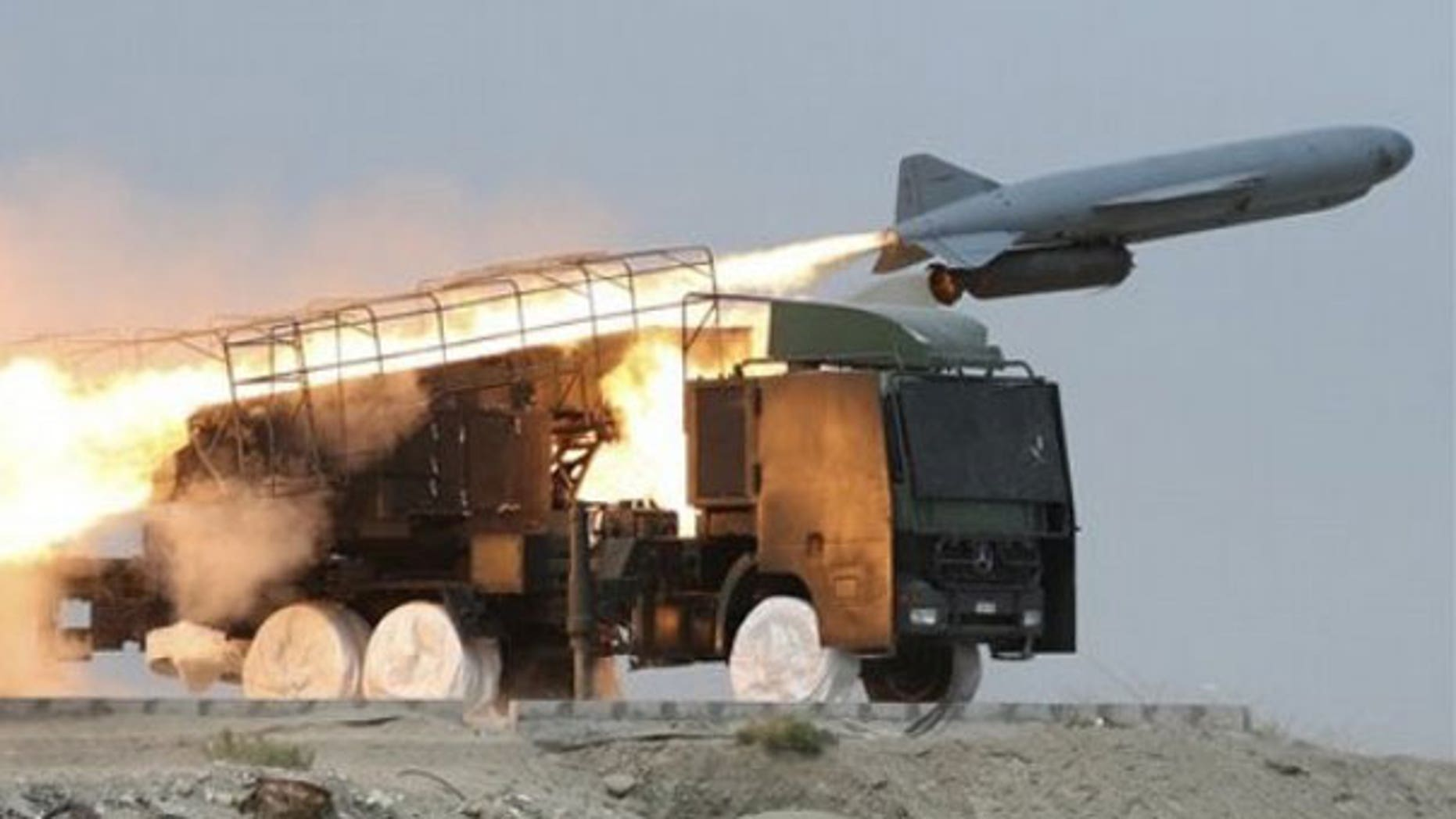 A Saegheh ground-to-sea missile is launched by Iranian Revolutionary Guard during a maneuver at the eastern part of Strait of Hormuz, a strategic oil route in southern Iran. Iranian media reported that the country will hold a new set of maneuvers in the strategic waters of the Persian Gulf and the Sea of Oman. (AP)