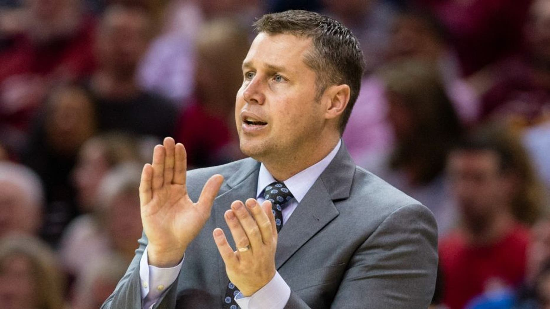 CLEVELAND, OH - MARCH 7: Head coach David Joerger of the Memphis Grizzlies watches his team during the first half against the Cleveland Cavaliers at Quicken Loans Arena on March 7, 2016 in Cleveland, Ohio. NOTE TO USER: User expressly acknowledges and agrees that, by downloading and/or using this photograph, user is consenting to the terms and conditions of the Getty Images License Agreement. Mandatory copyright notice. (Photo by Jason Miller/Getty Images)