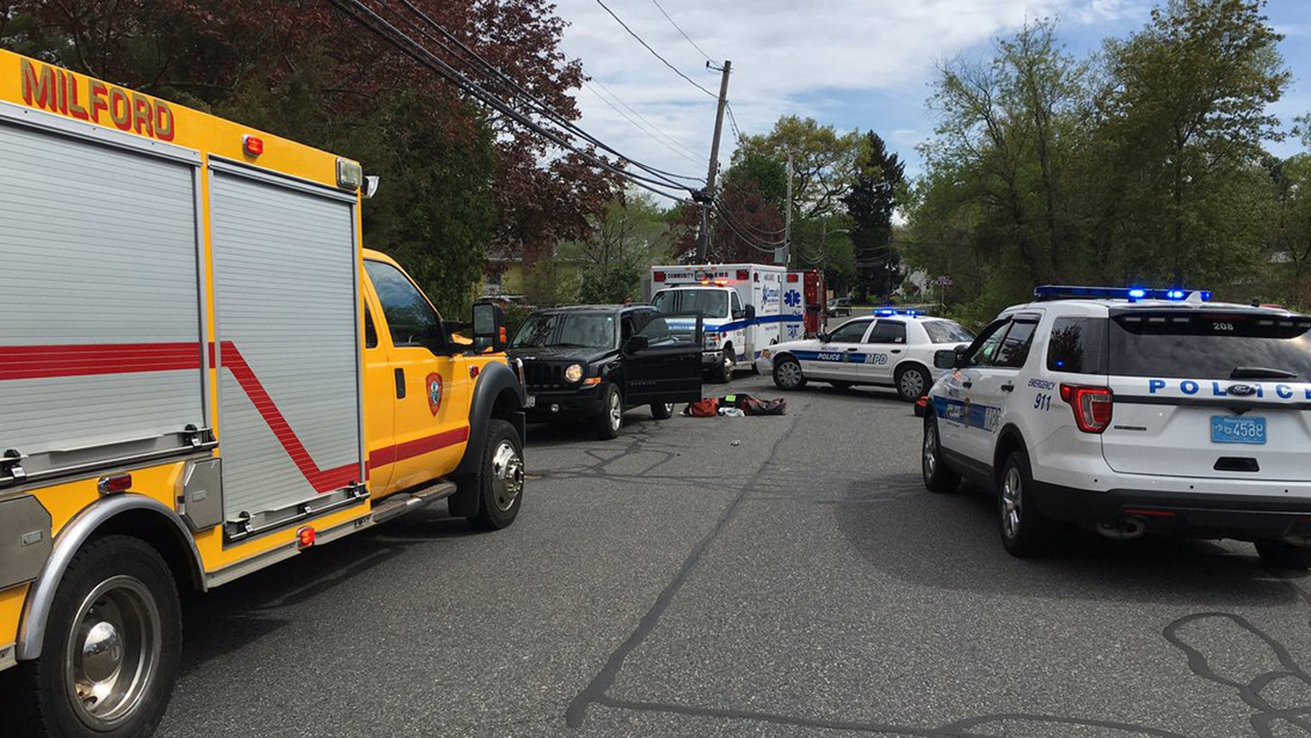 A 19-year-old man is in custody after allegedly stabbing multiple people in Milford Sunday afternoon.