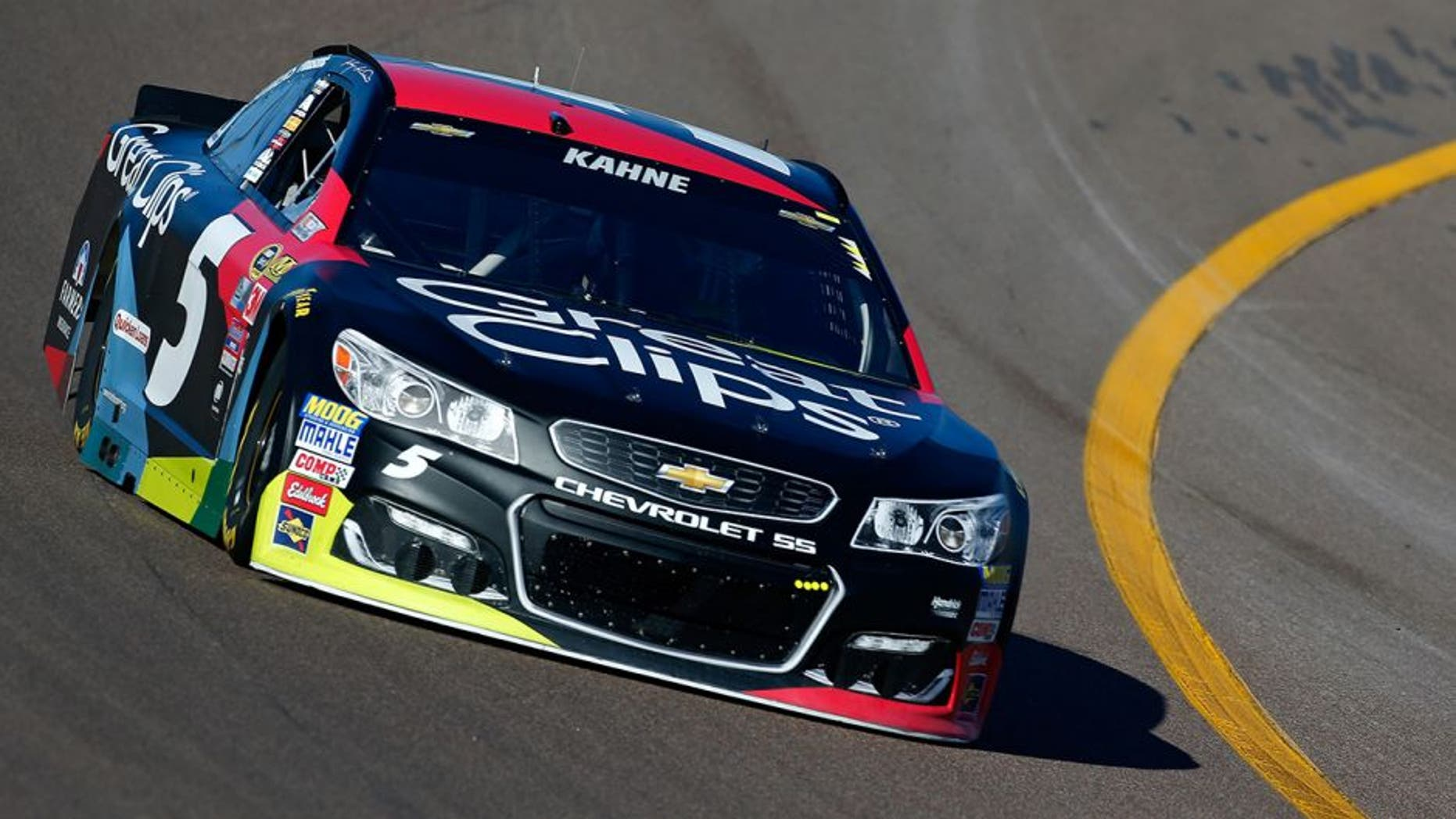 AVONDALE, AZ - MARCH 12: Kasey Kahne, driver of the #5 Great Clips Chevrolet, practices for the NASCAR Sprint Cup Series Good Sam 500 at Phoenix International Raceway on March 12, 2016 in Avondale, Arizona. (Photo by Jonathan Ferrey/NASCAR via Getty Images)