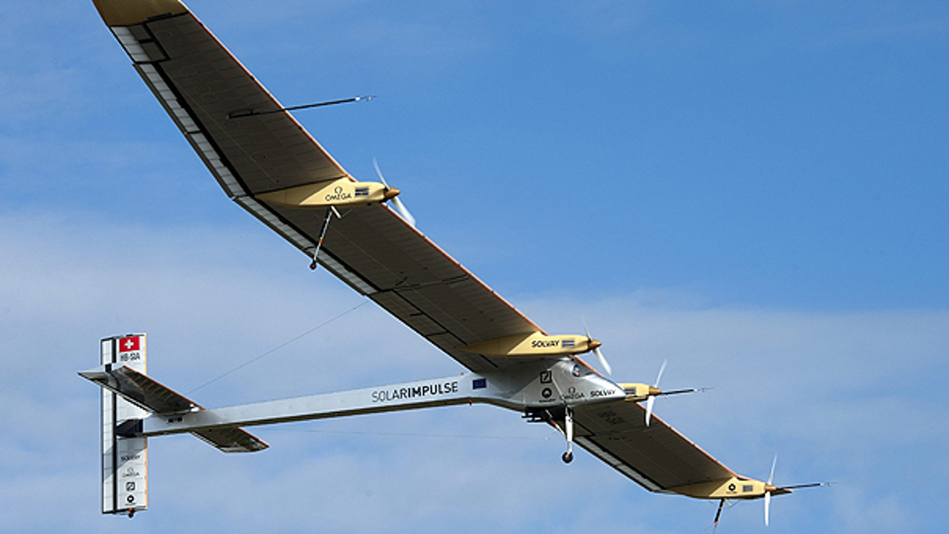 May 13: he experimental aircraft 'Solar Impulse' takes off for its first international flight to Brussels at the airbase in Payerne, Switzerland.