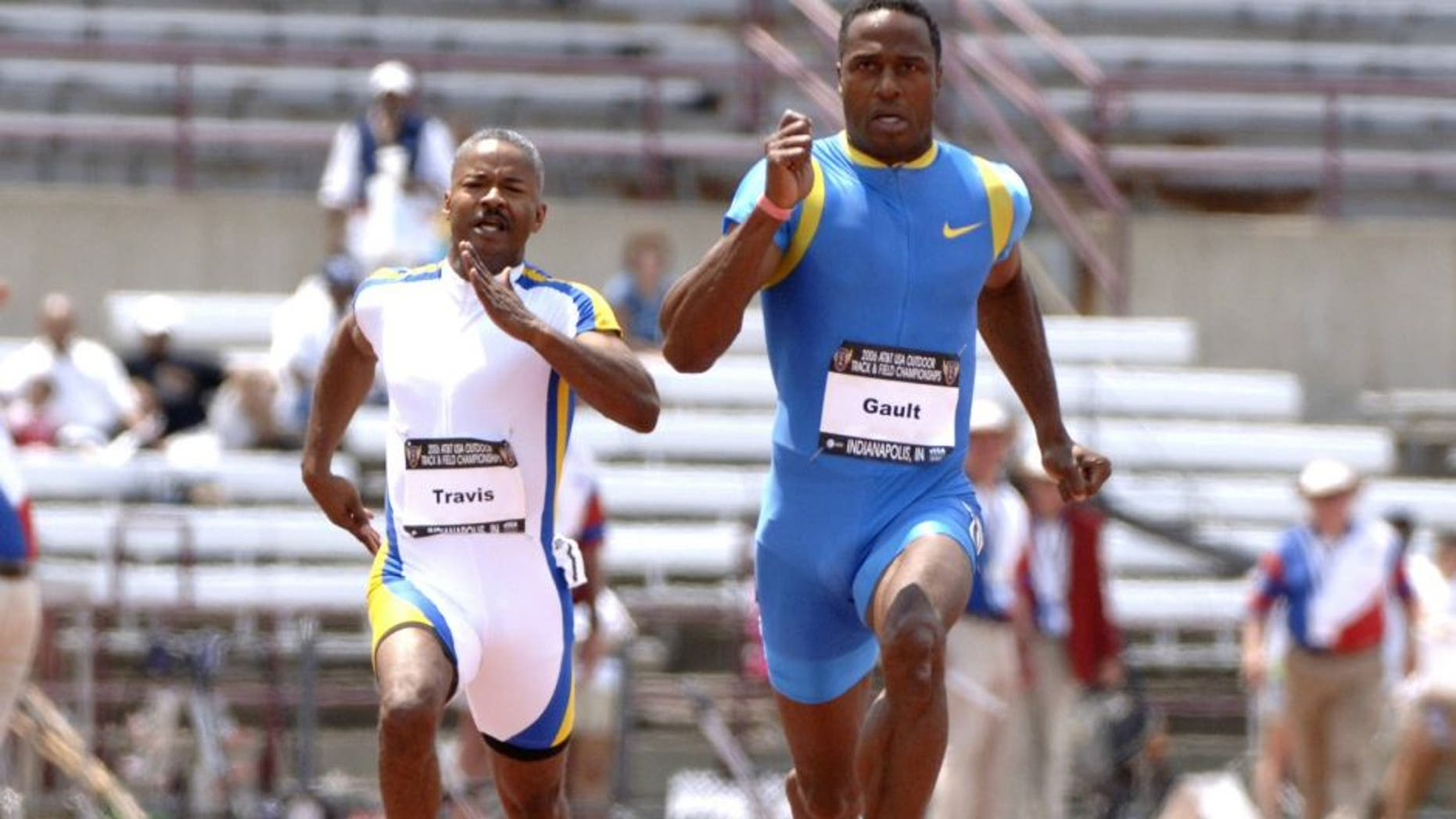 Willie Gault , former Chicago Bears wide receiver, wins the men's 100 meter dash in the masters division June 24 at the 2006 AT&T Outdoor Track and Field Championships in Indianapolis. (Photo by A. Messerschmidt/Getty Images)