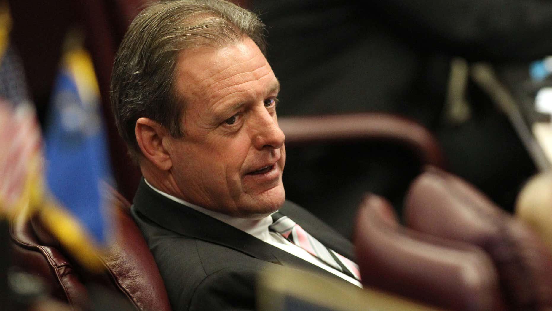 May 23, 2011: Former Nevada Sen. John Lee, D-North Las Vegas, at work on the Senate floor at the Legislature in Carson City, Nev.