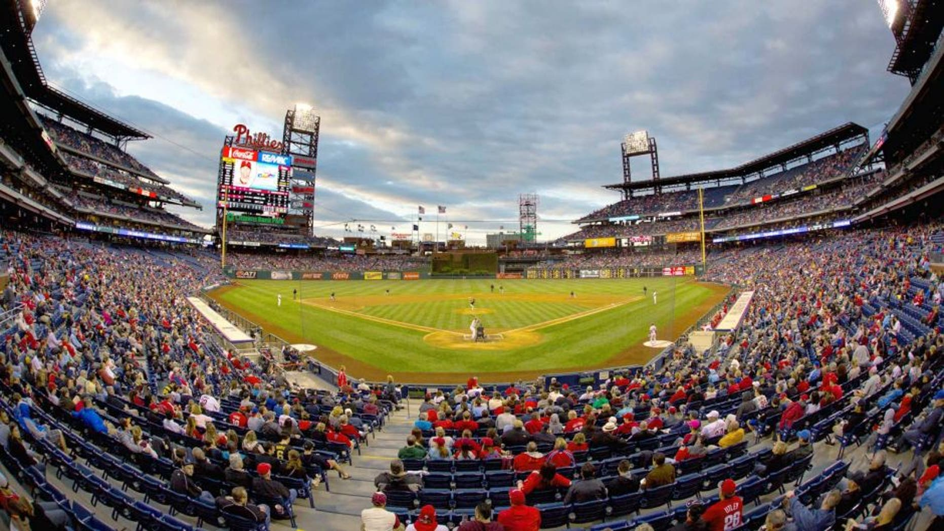 May 13, 2015; Philadelphia, PA, USA; General view Citizens Bank Park during game play between the Philadelphia Phillies and the Pittsburgh Pirates. The Phillies won 3-2. Mandatory Credit: Bill Streicher-USA TODAY Sports